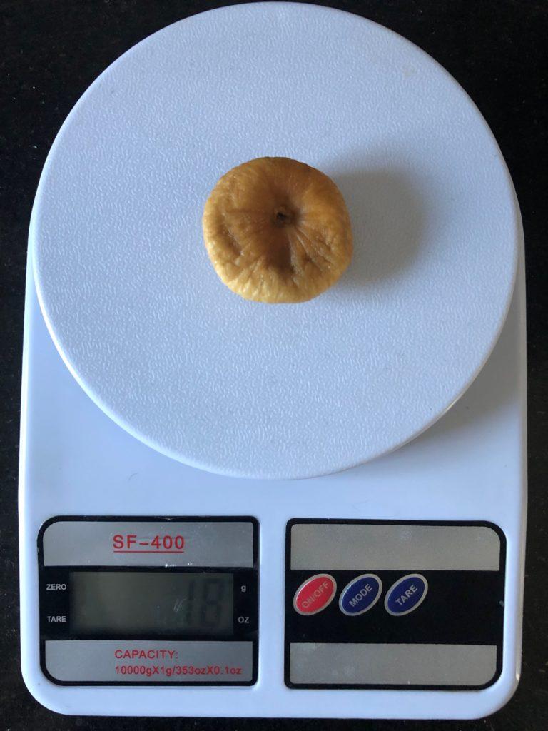 вес инжира (плод фигового дерева)
