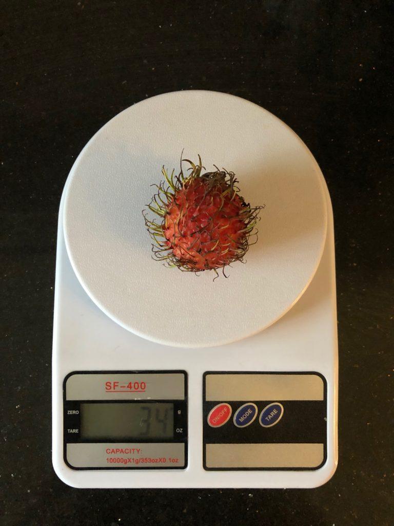 вес рамбутана