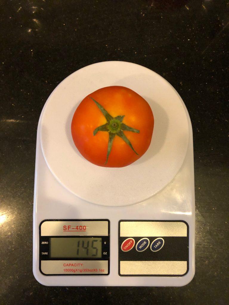 вес среднего помидора (томата)