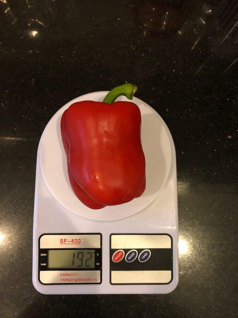 вес болгарского перца