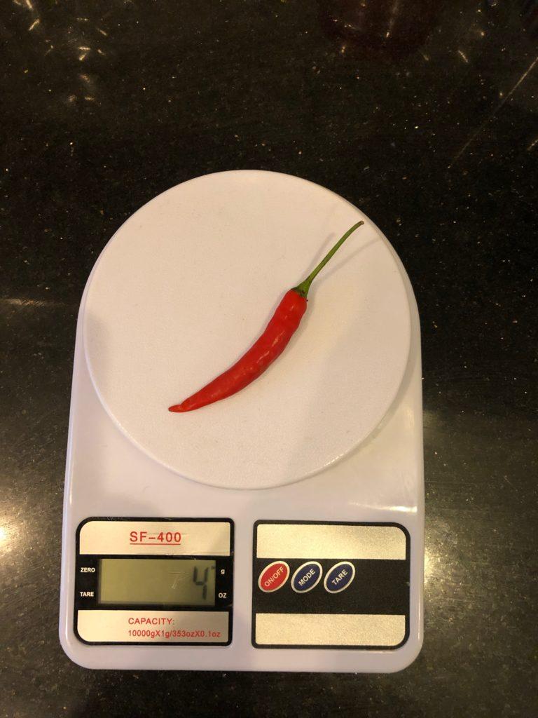 вес перца чили