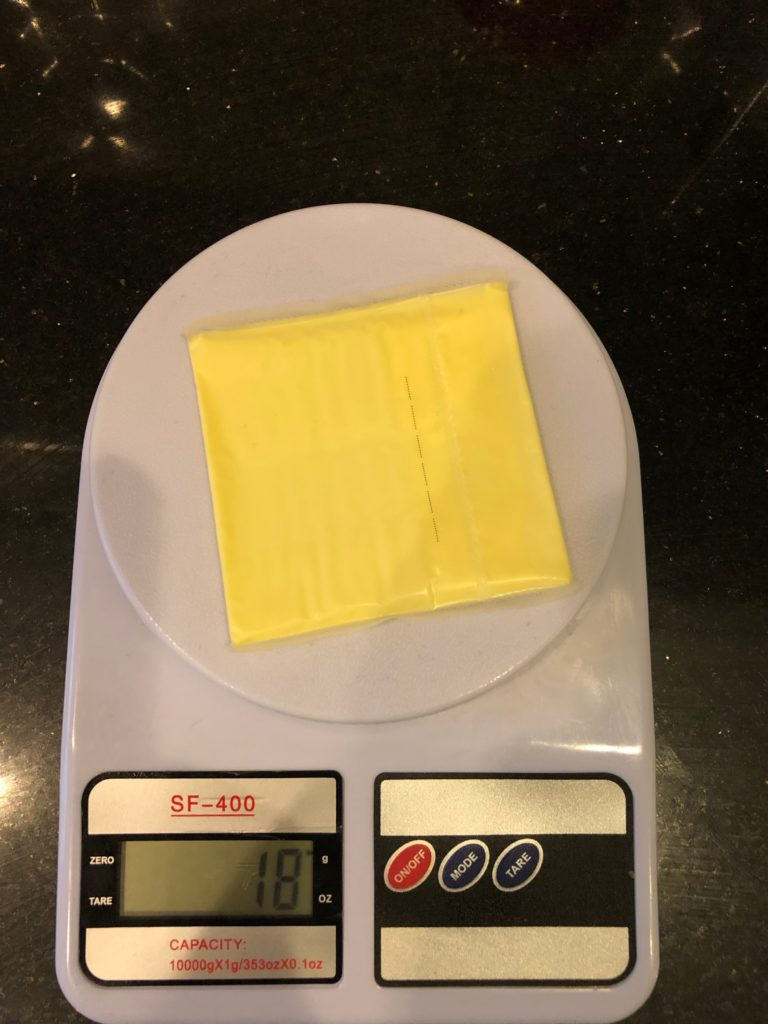 вес кусочка сыра