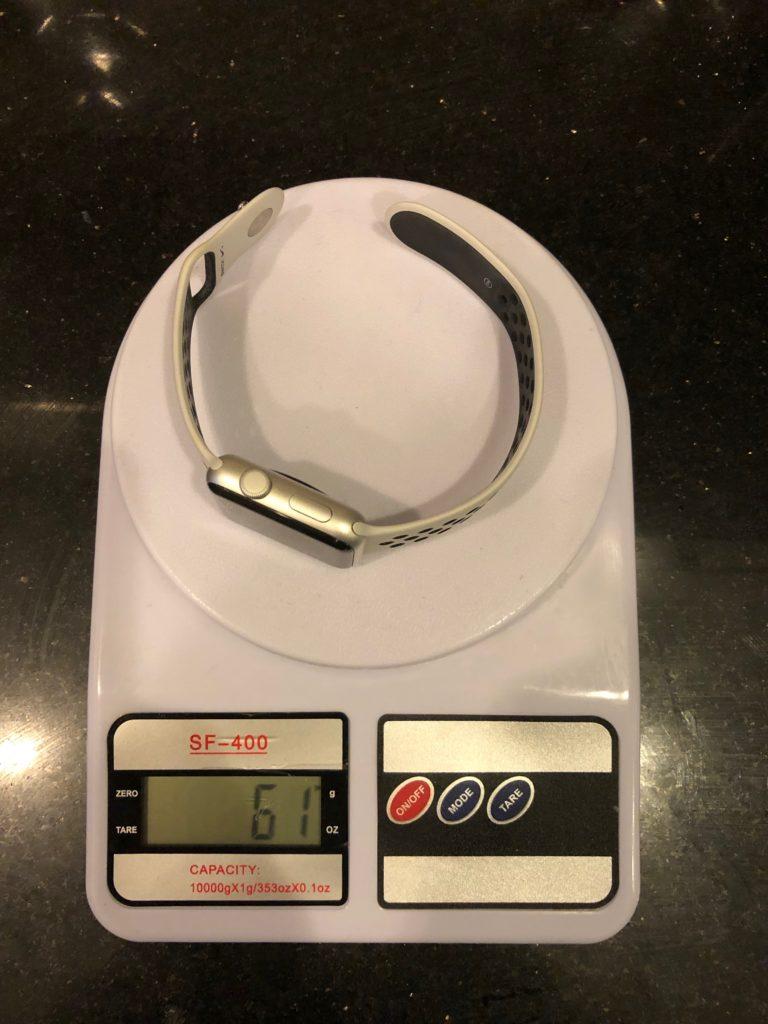 вес Apple Watch 42 мм с силиконовым браслетом