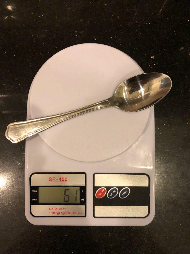 вес столовой ложки