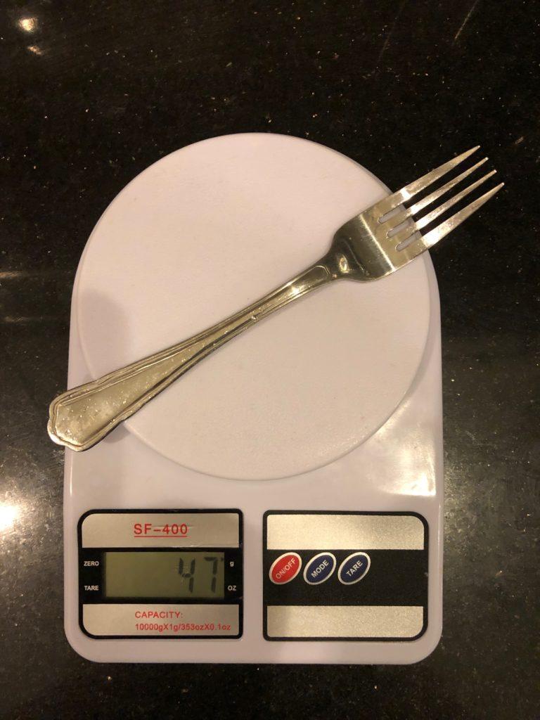 вес вилки