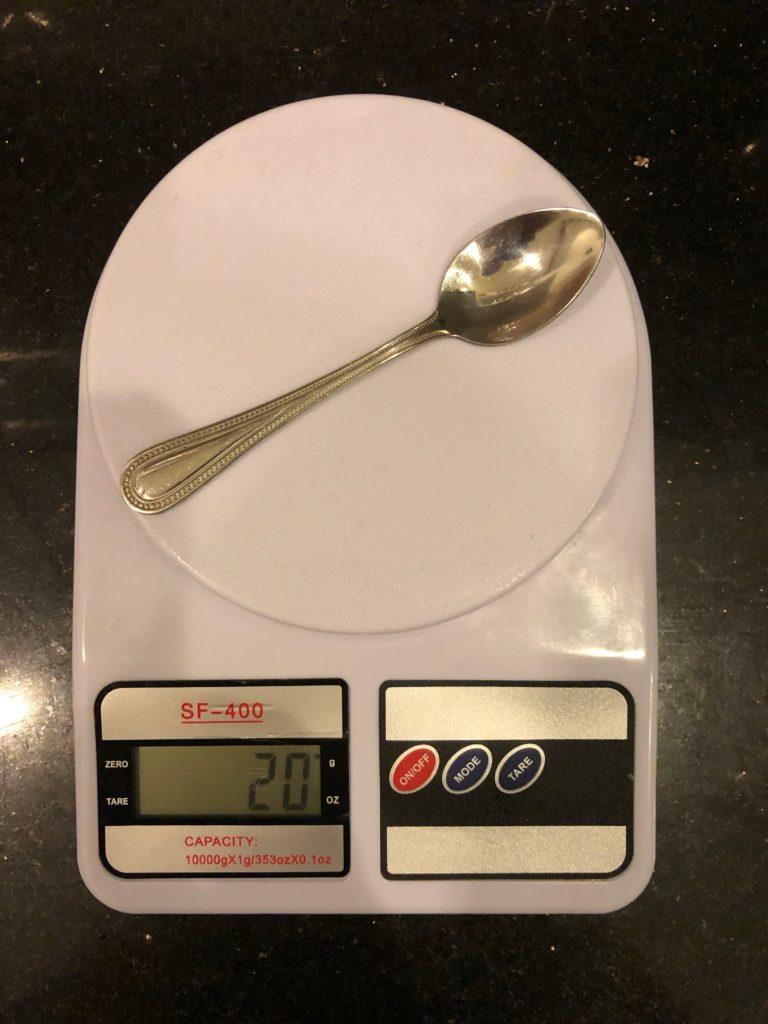 вес чайной ложки