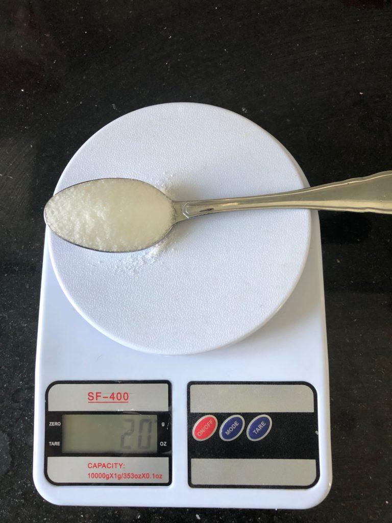 вес столовой ложки соли
