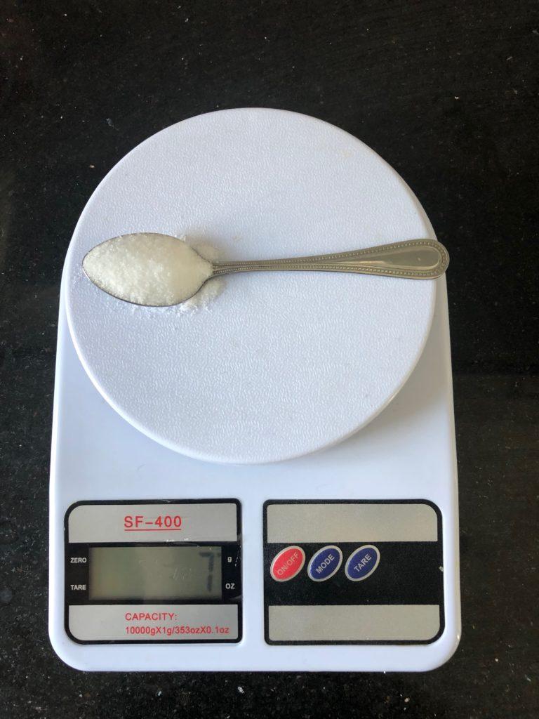 вес чайной ложки соли