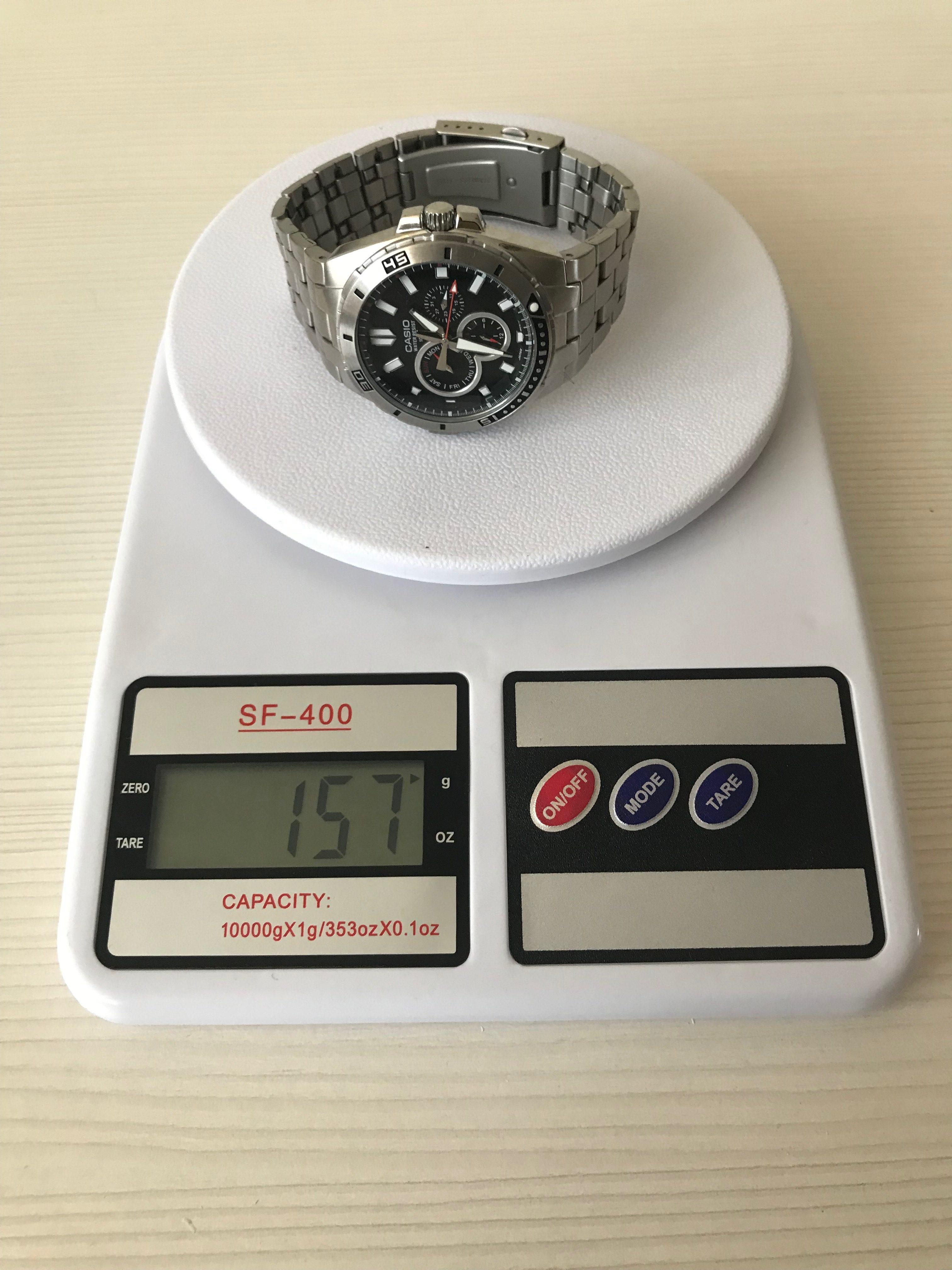 вес часов мужских casio