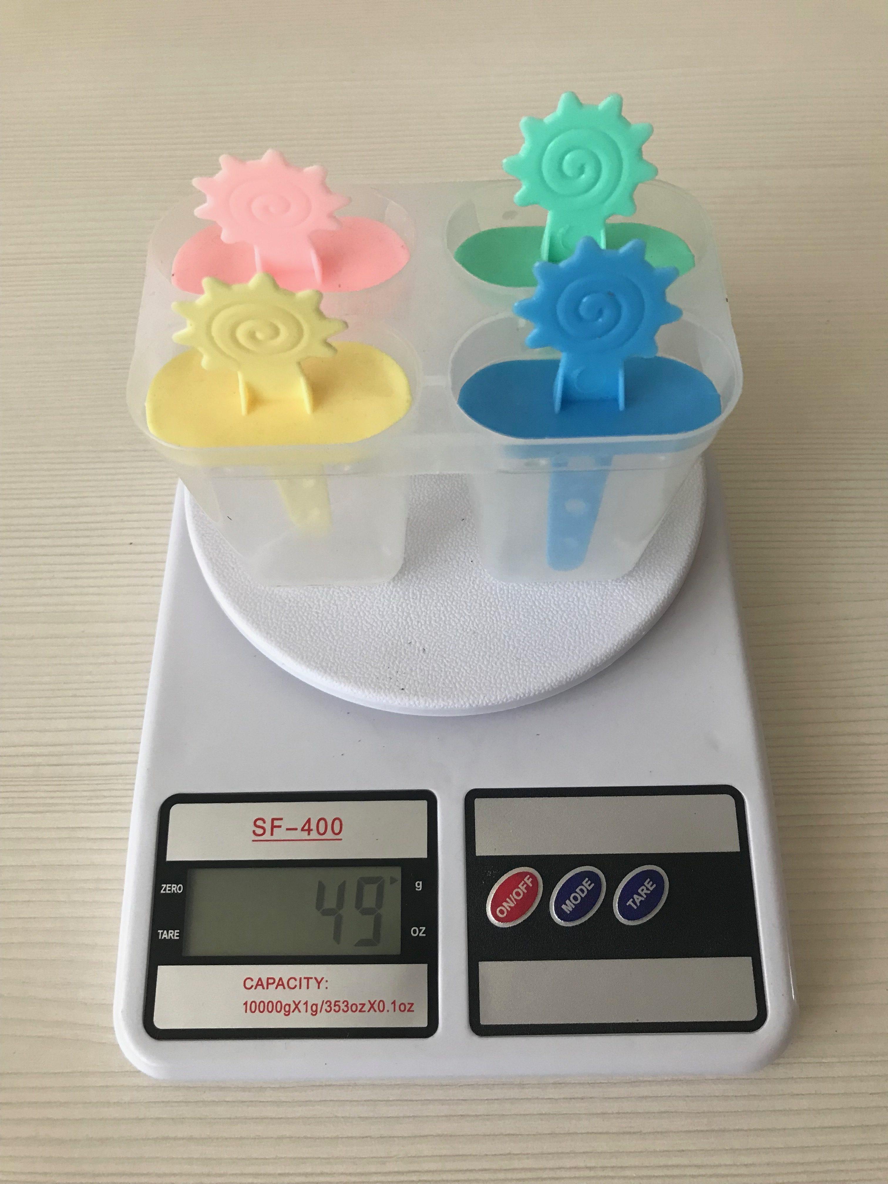 вес формочки для мороженого (на 4 порции)