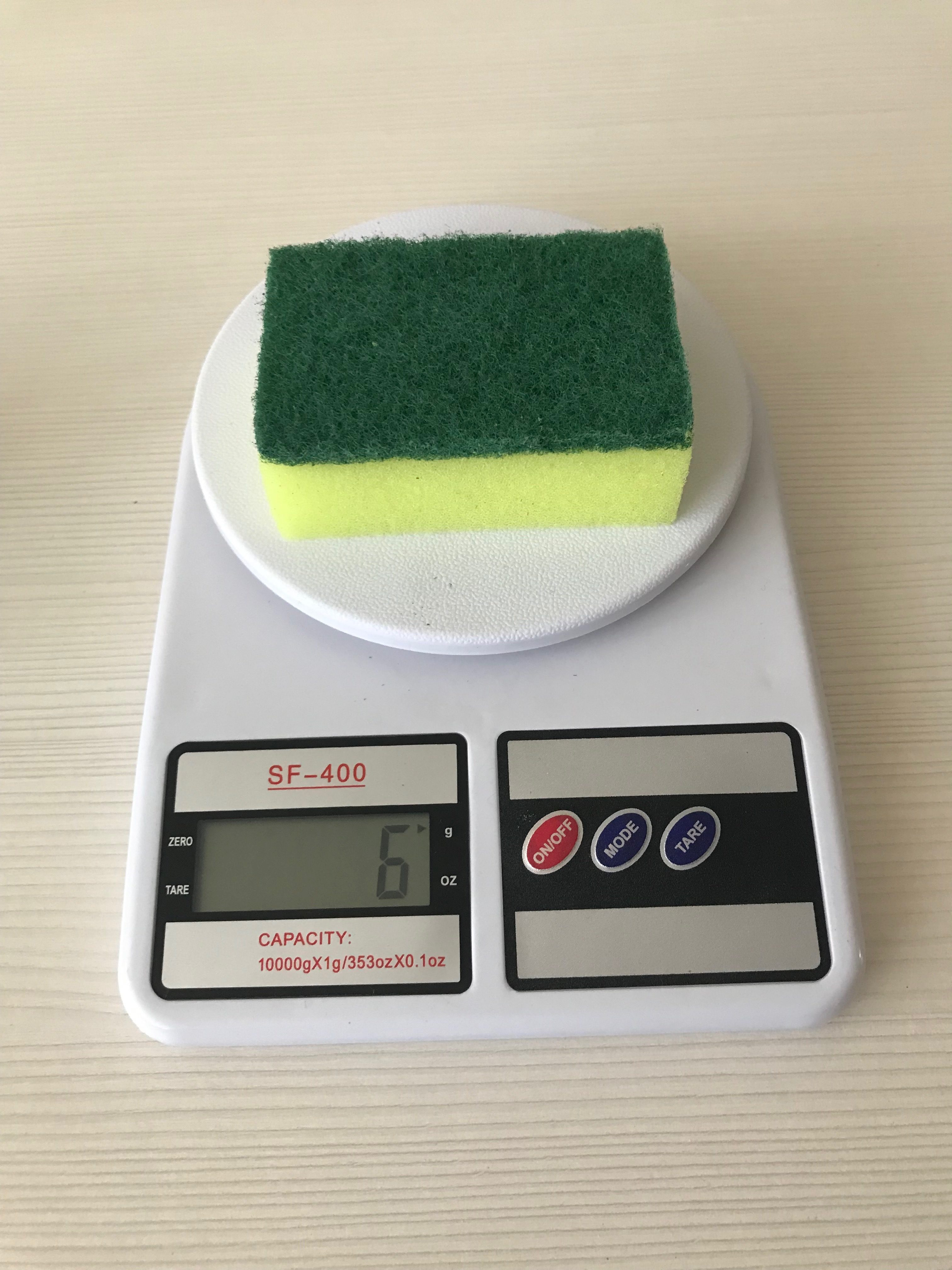 вес губки для мытья посуды