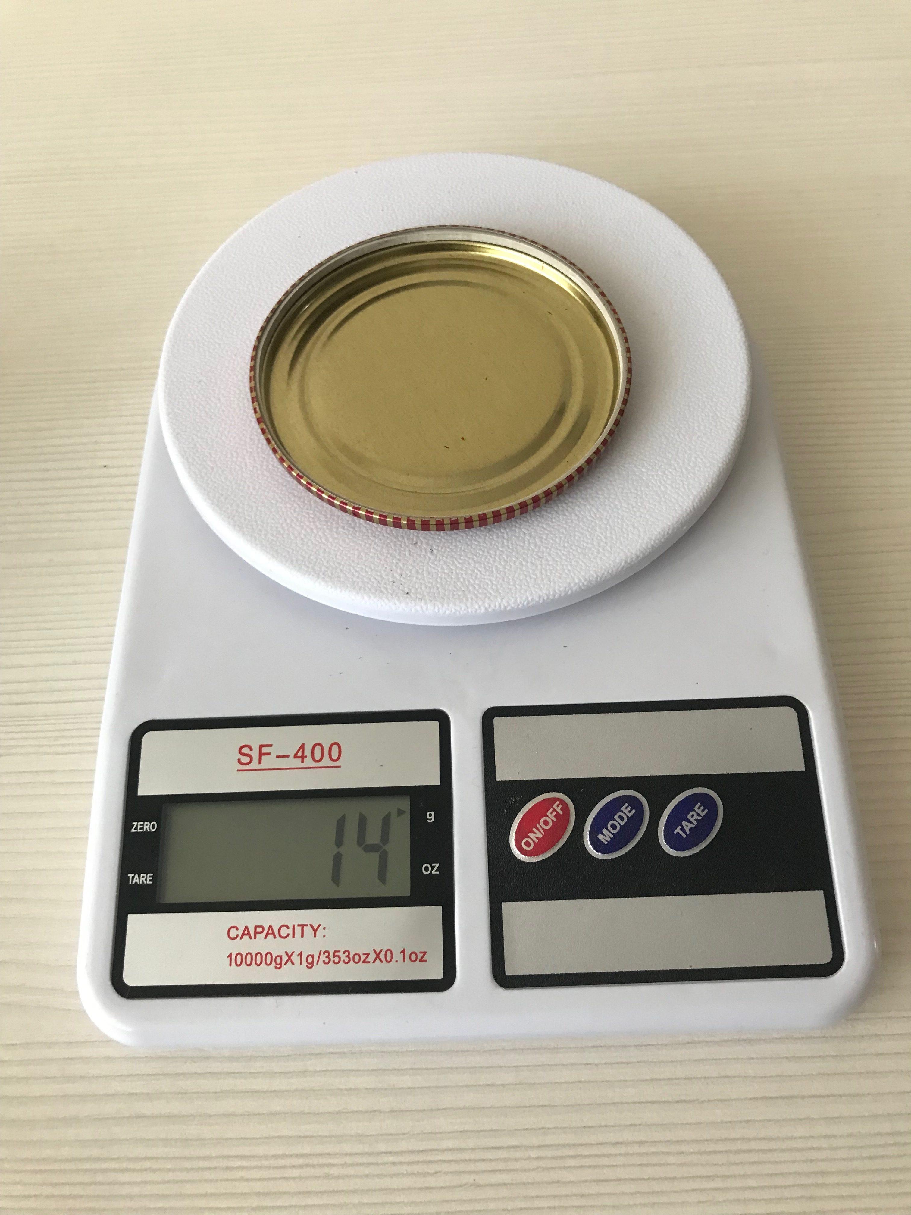 вес крышки для закаток