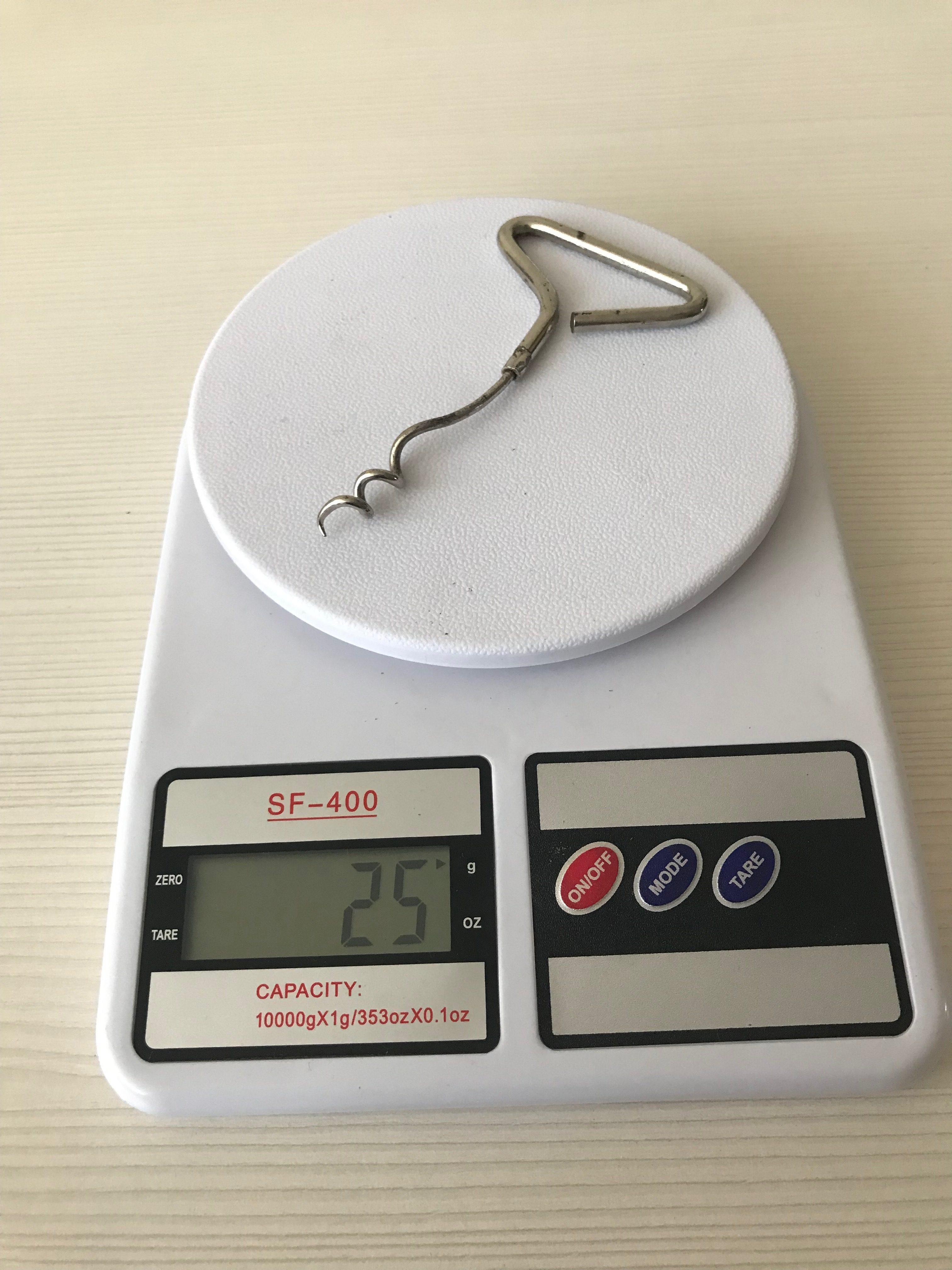 вес штопора металлического