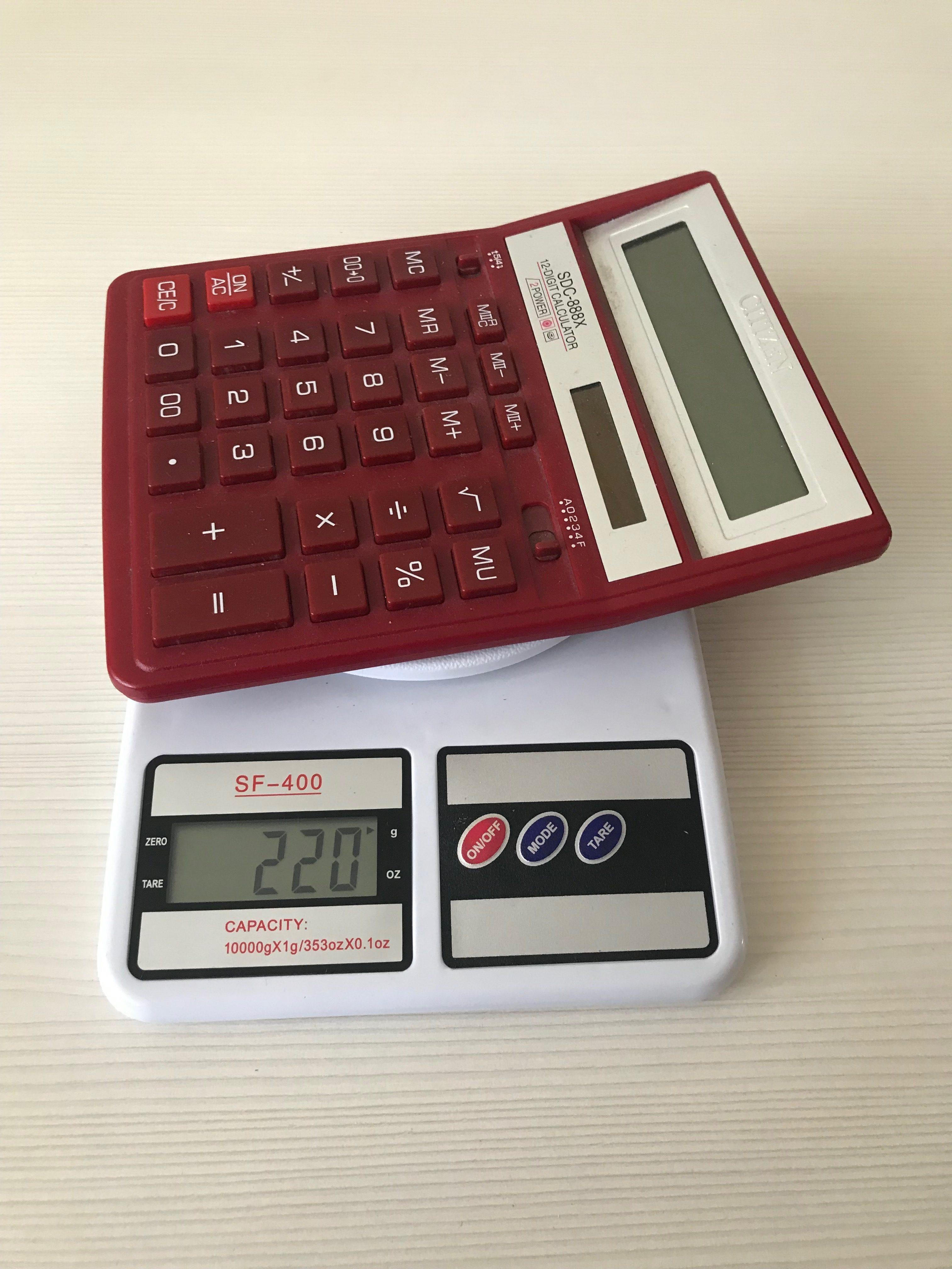 вес калькулятора