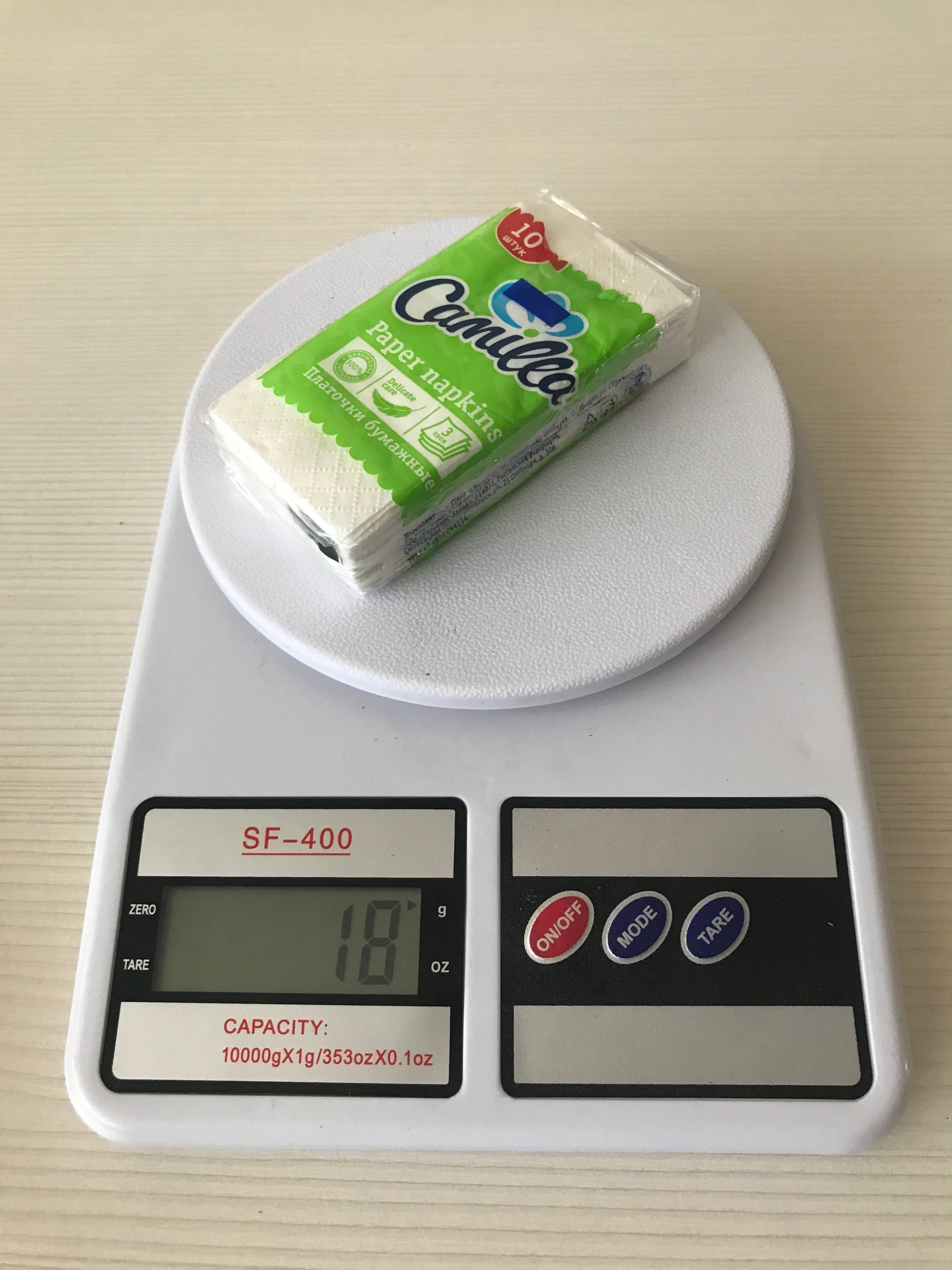 вес упаковки салфеток