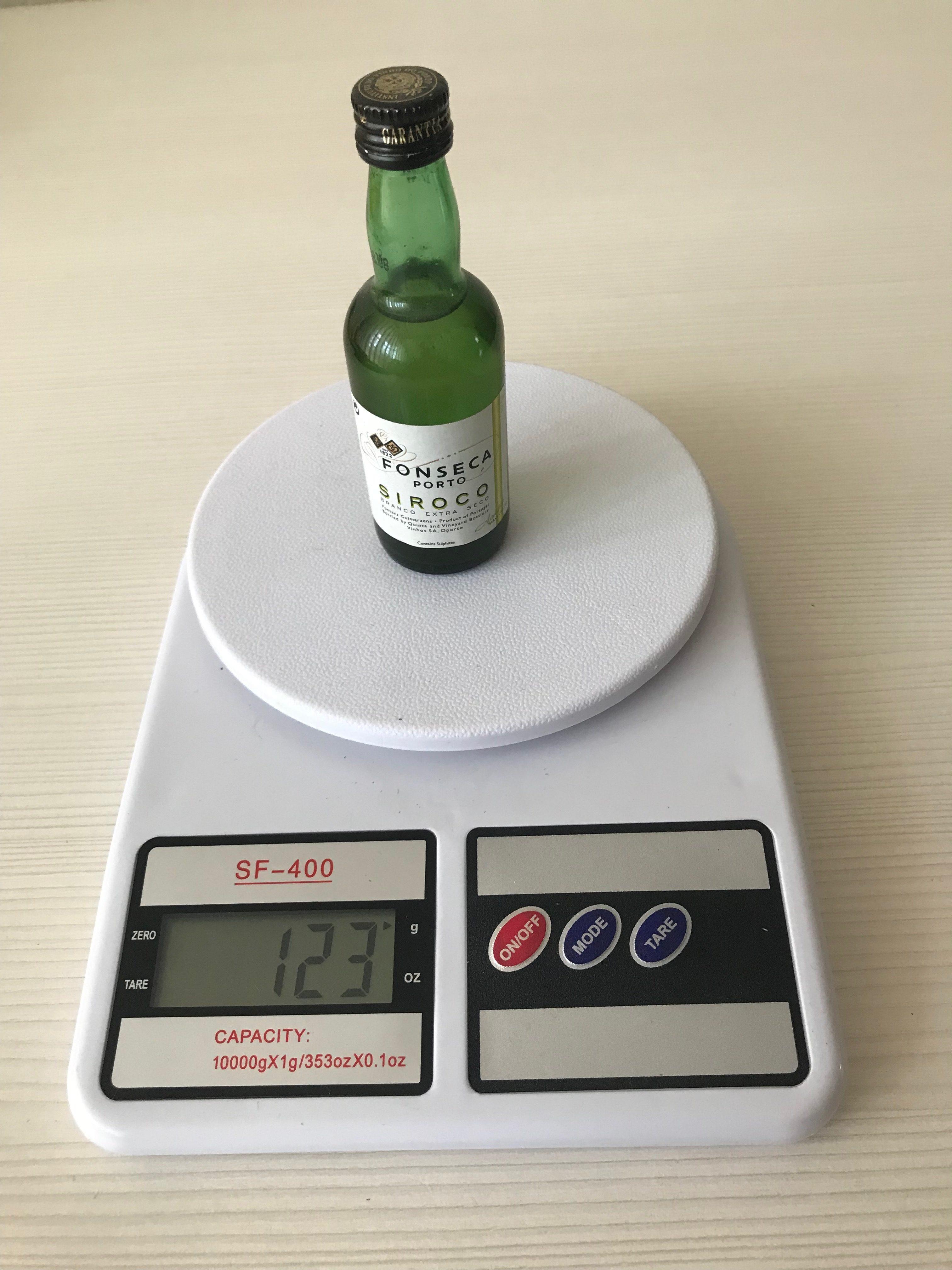 вес мини бутылочки из бара
