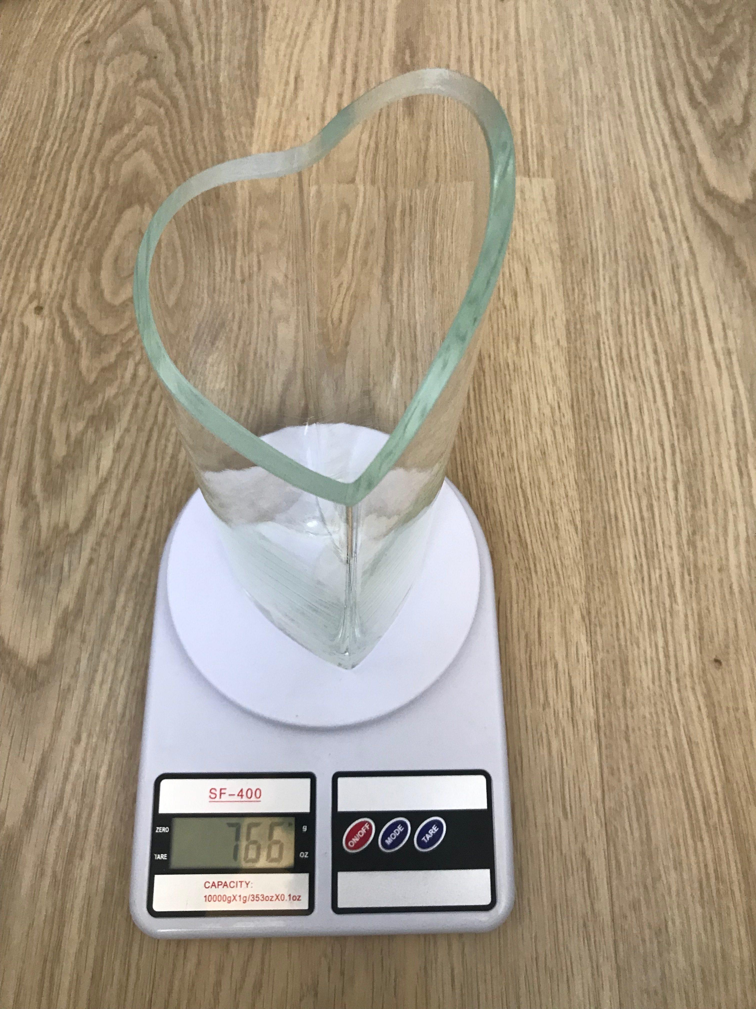 вес вазы стеклянной