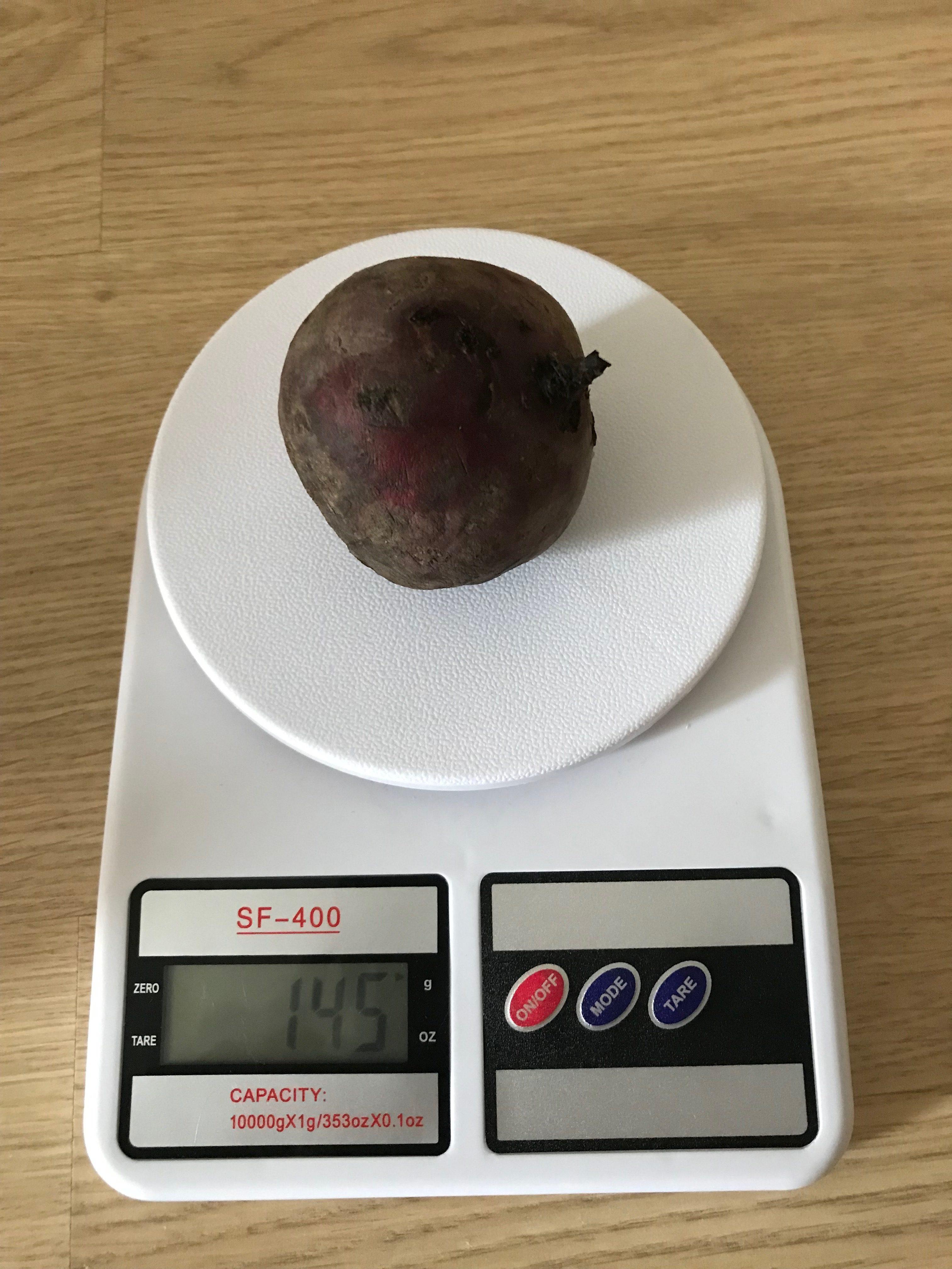 вес свеклы мелкой