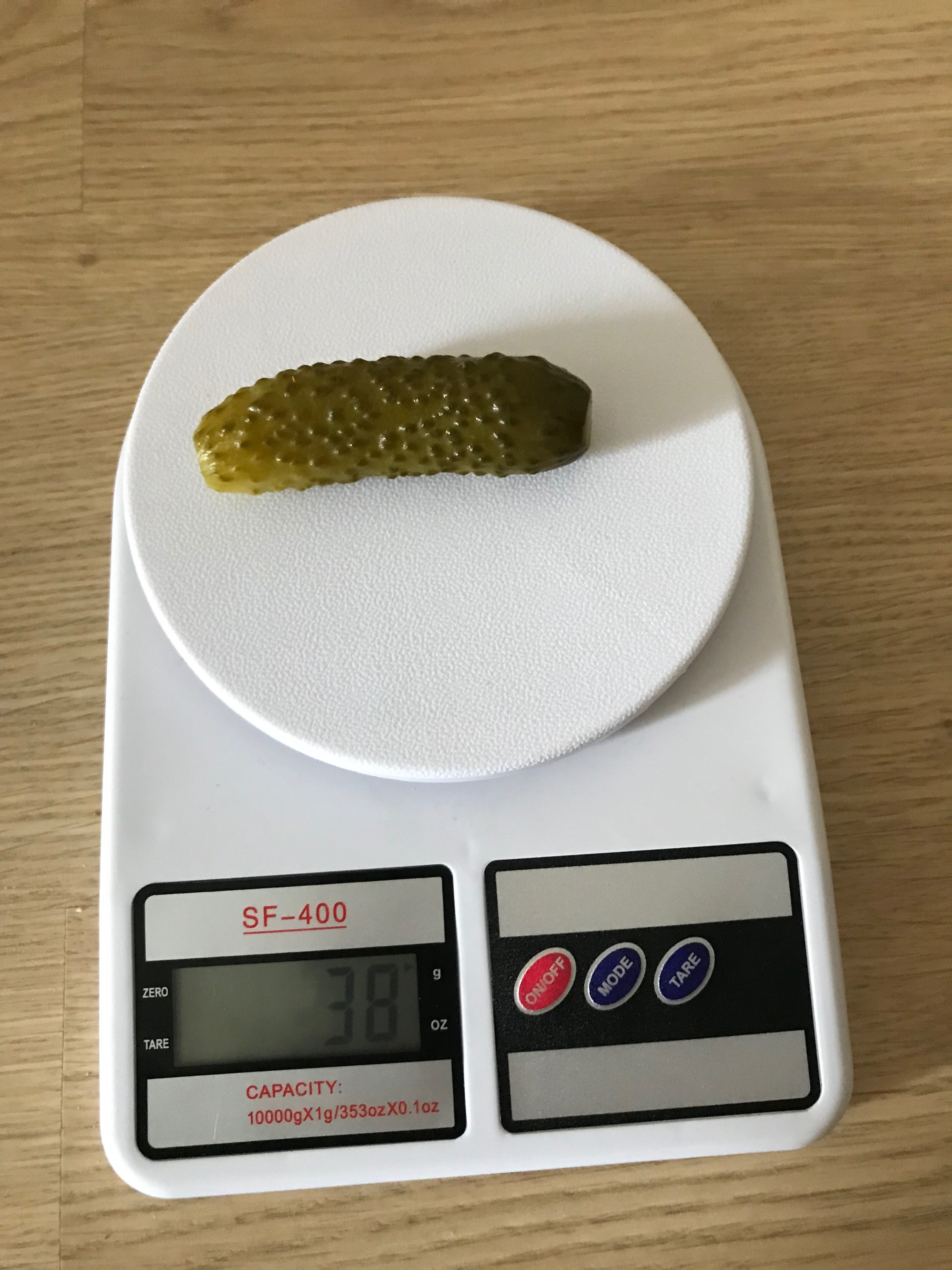 вес маринованного огурчика