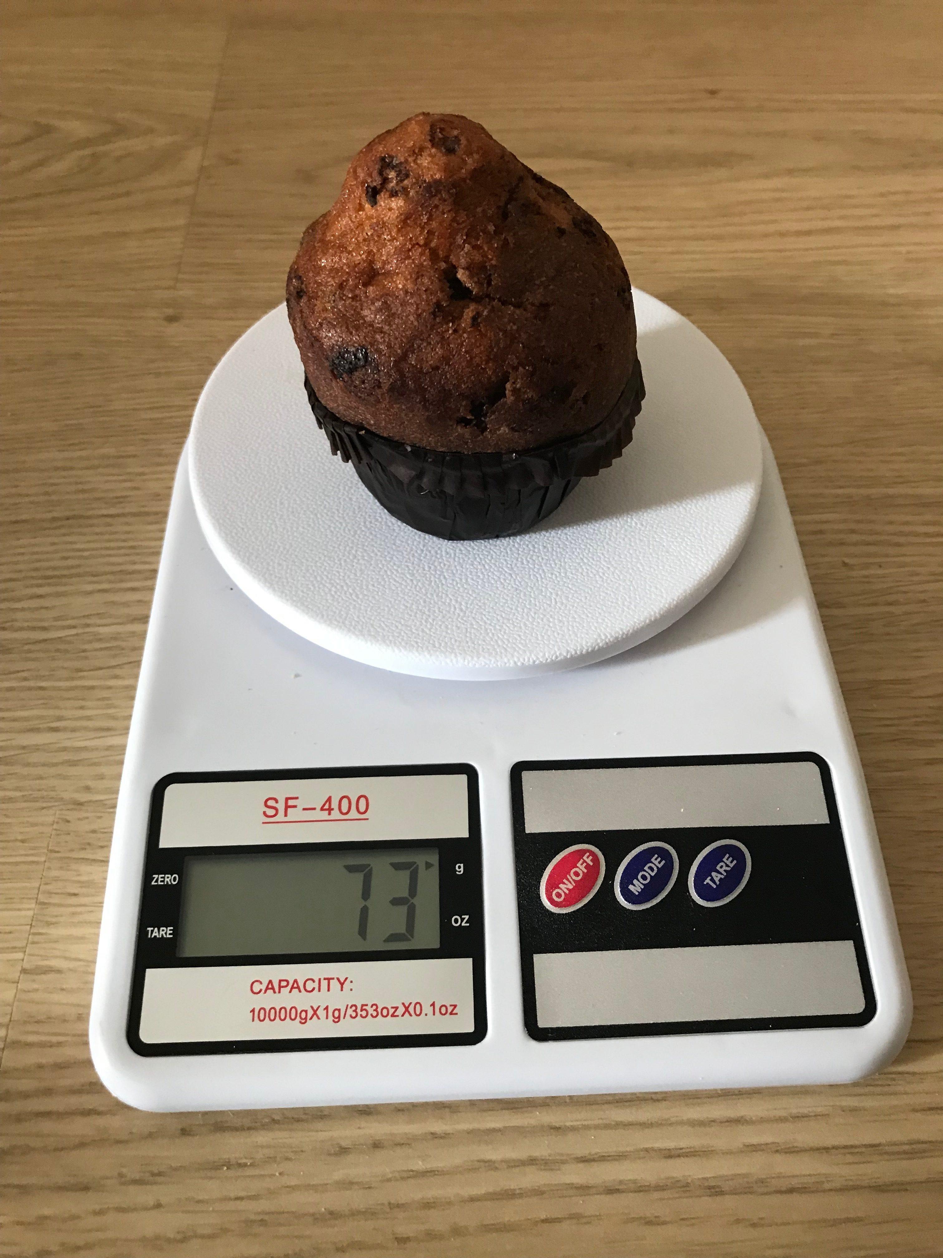 вес кекса с шоколадом в бумажной обертке