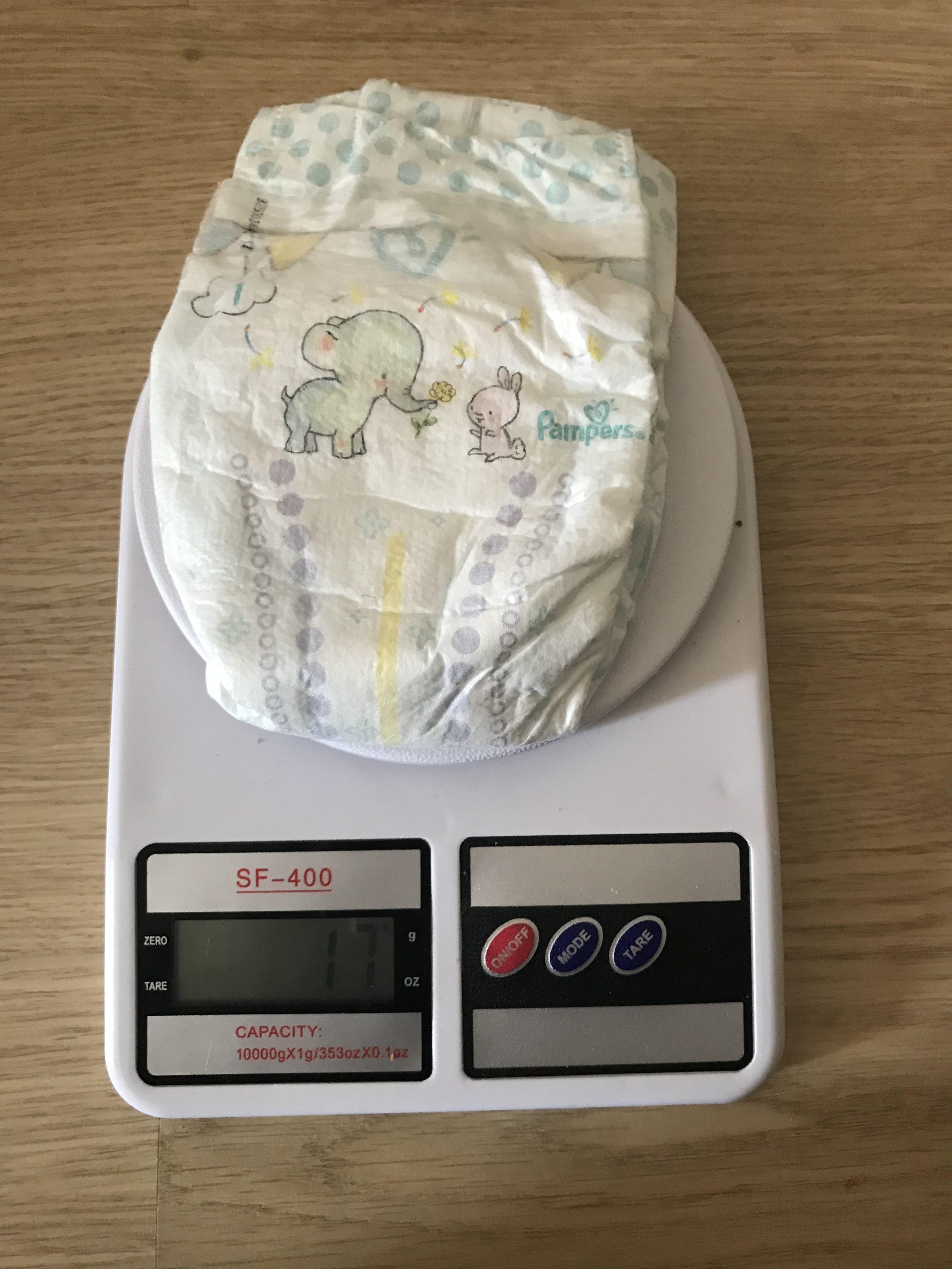 вес детского подгузника малого размера