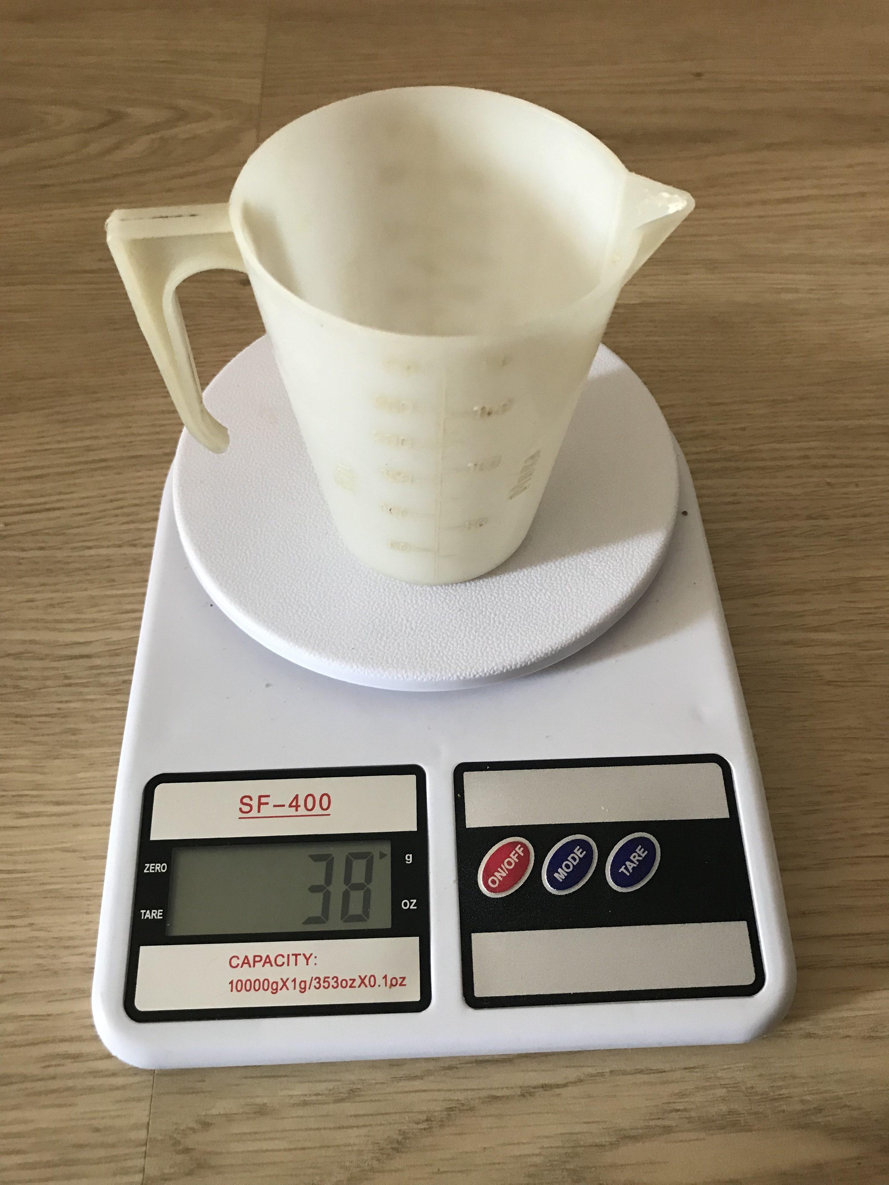 вес мерного стакана
