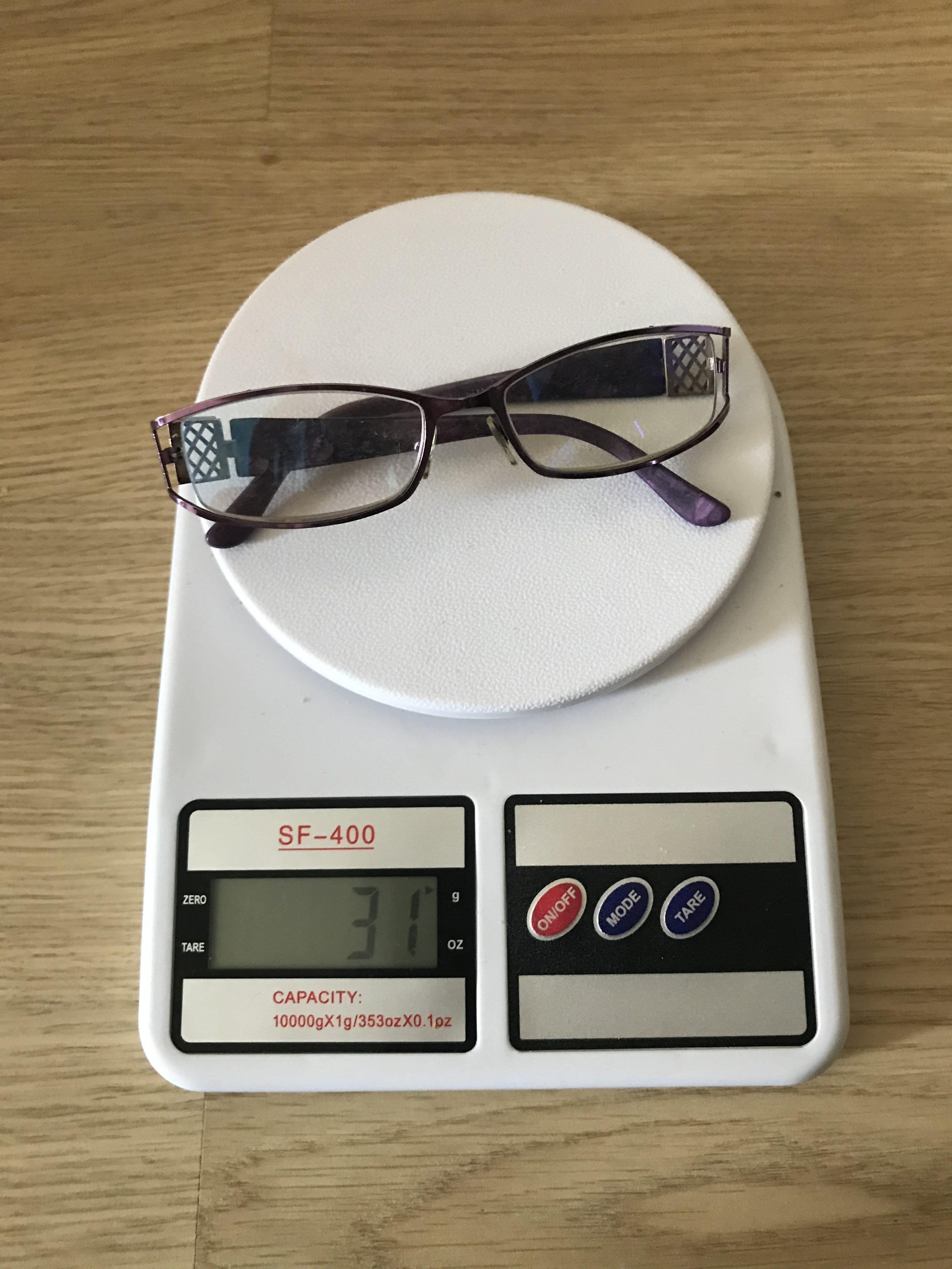 вес очков для зрения