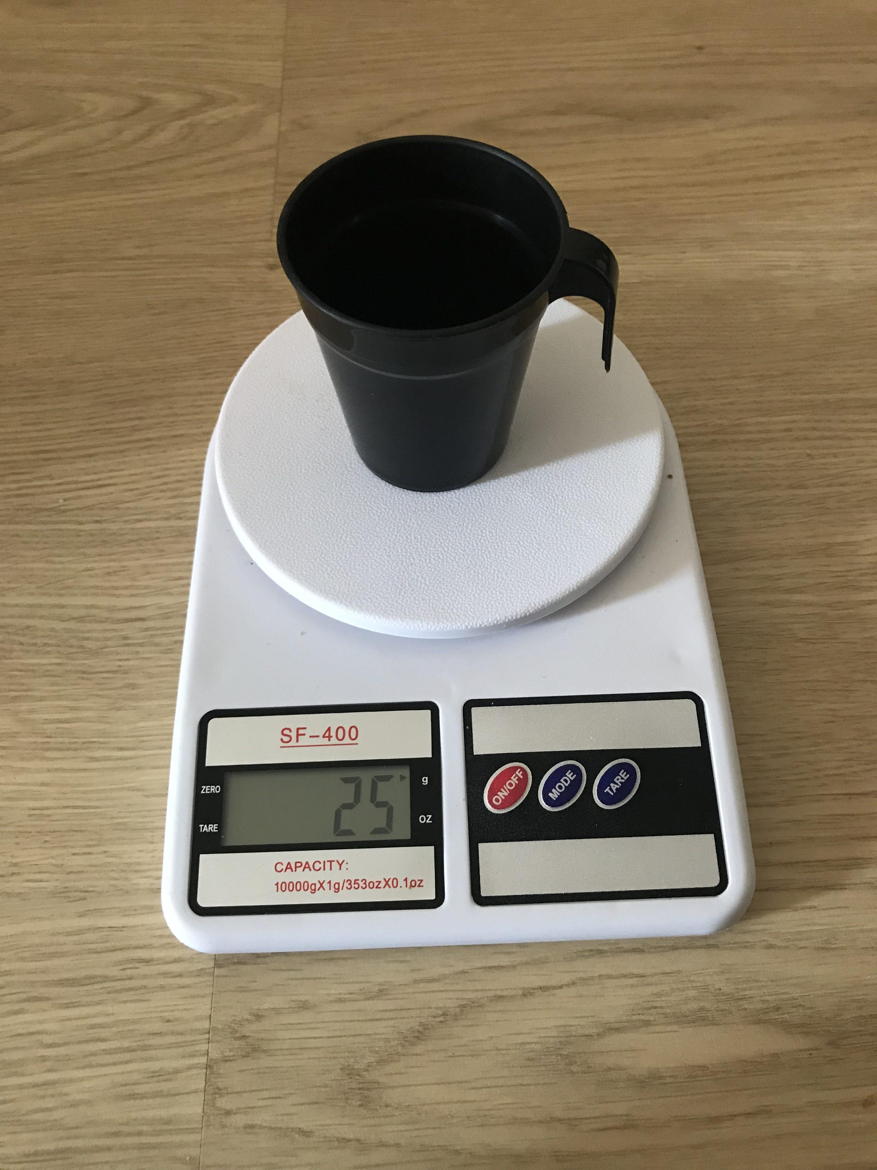 вес пластмассового стаканчика
