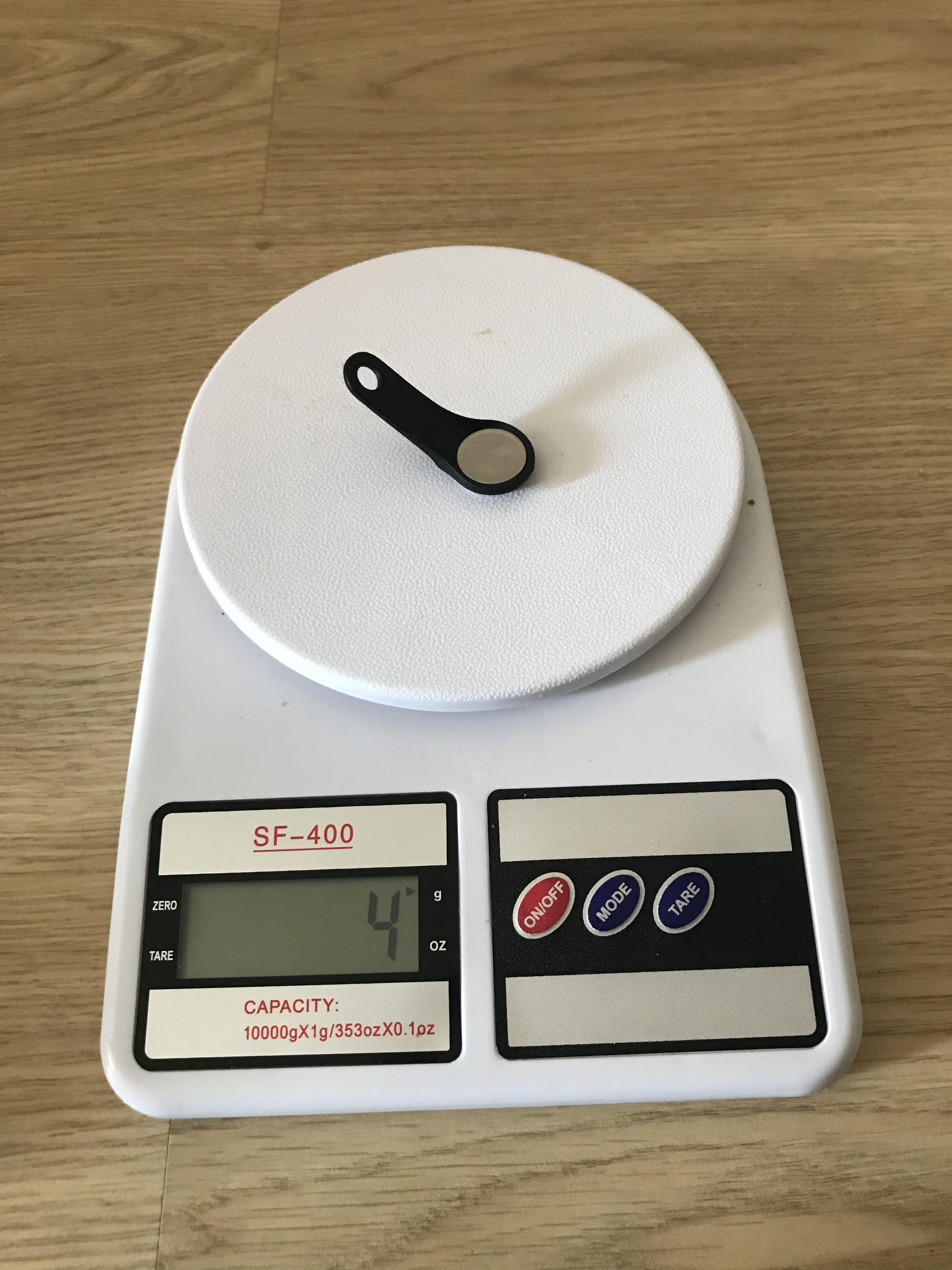 вес чипа от домофона