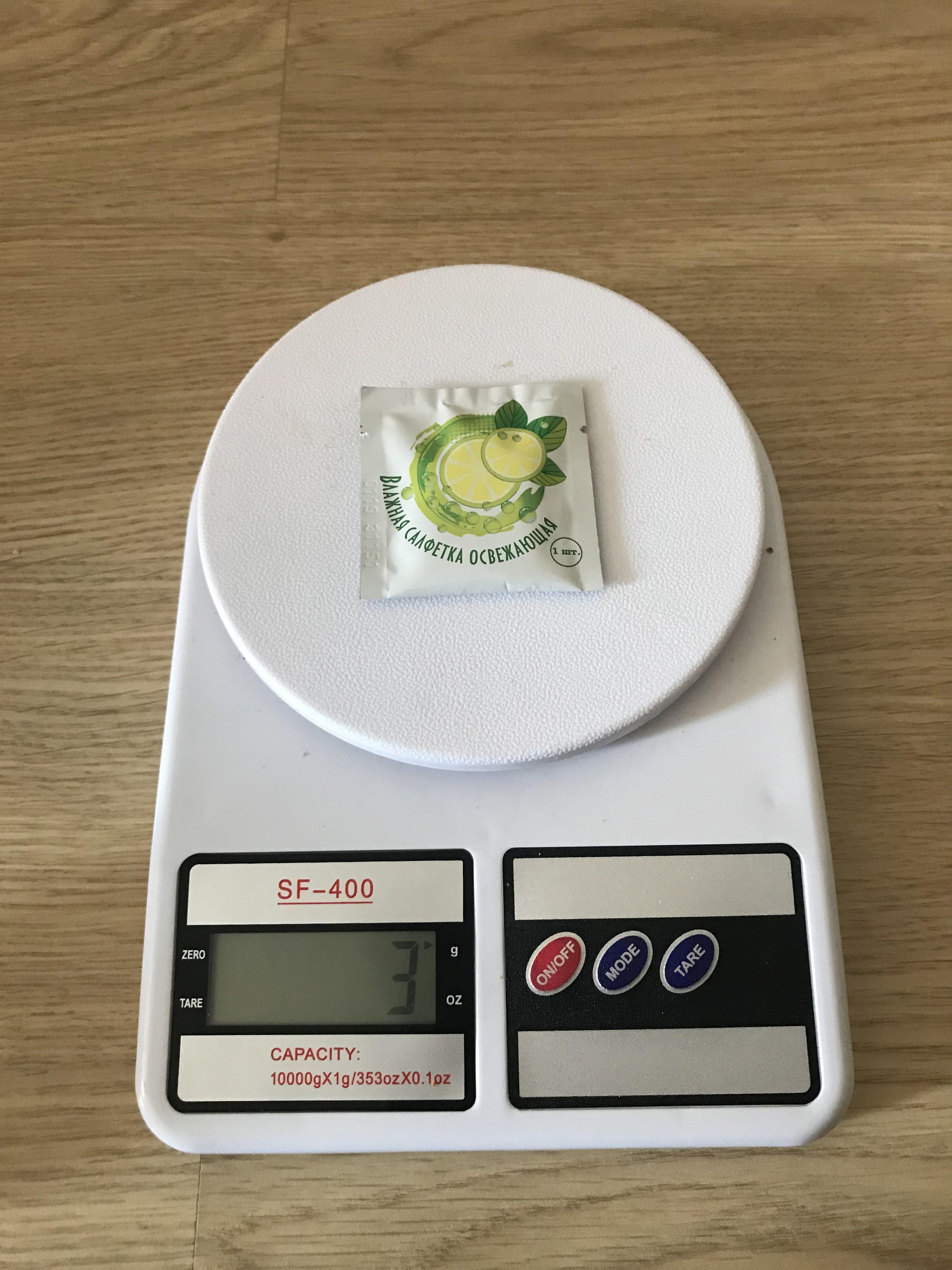 вес влажной салфетки в индивидуальной упаковке