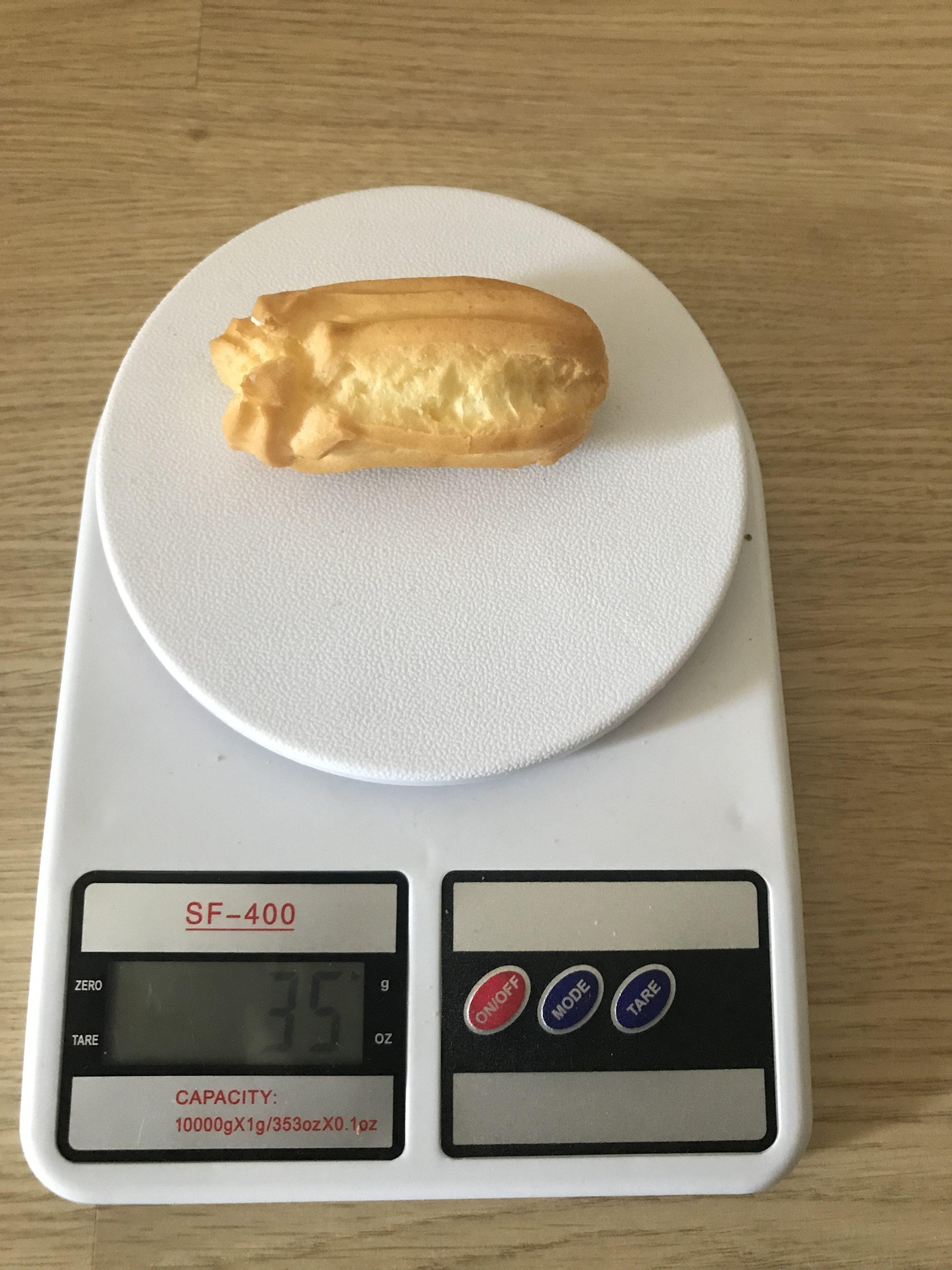 вес эклера с творогом