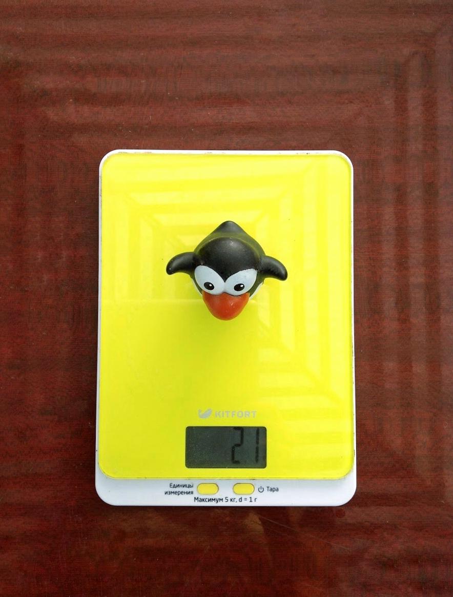 вес игрушечного пингвина