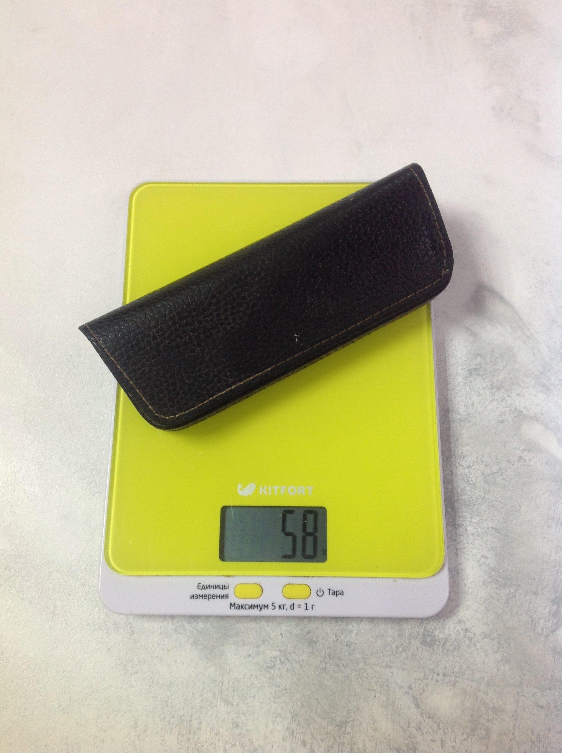вес футляра для очков