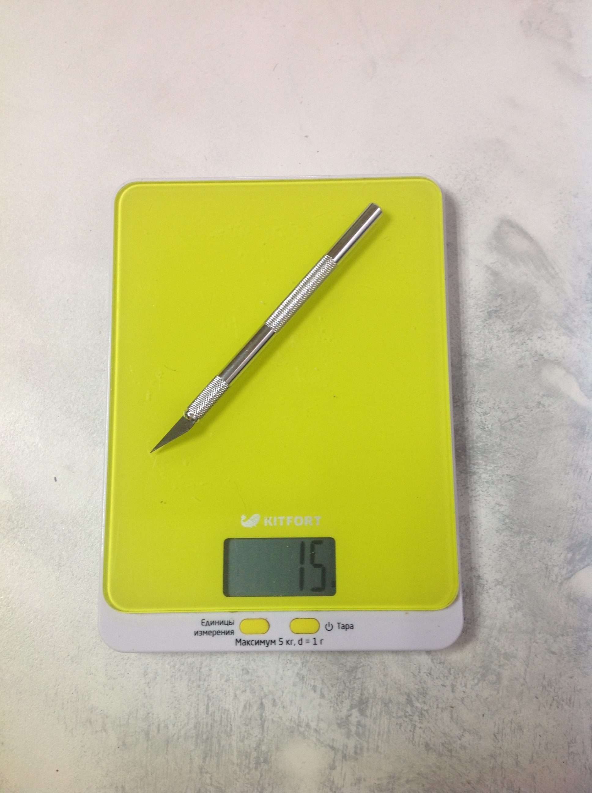 вес макетного ножа