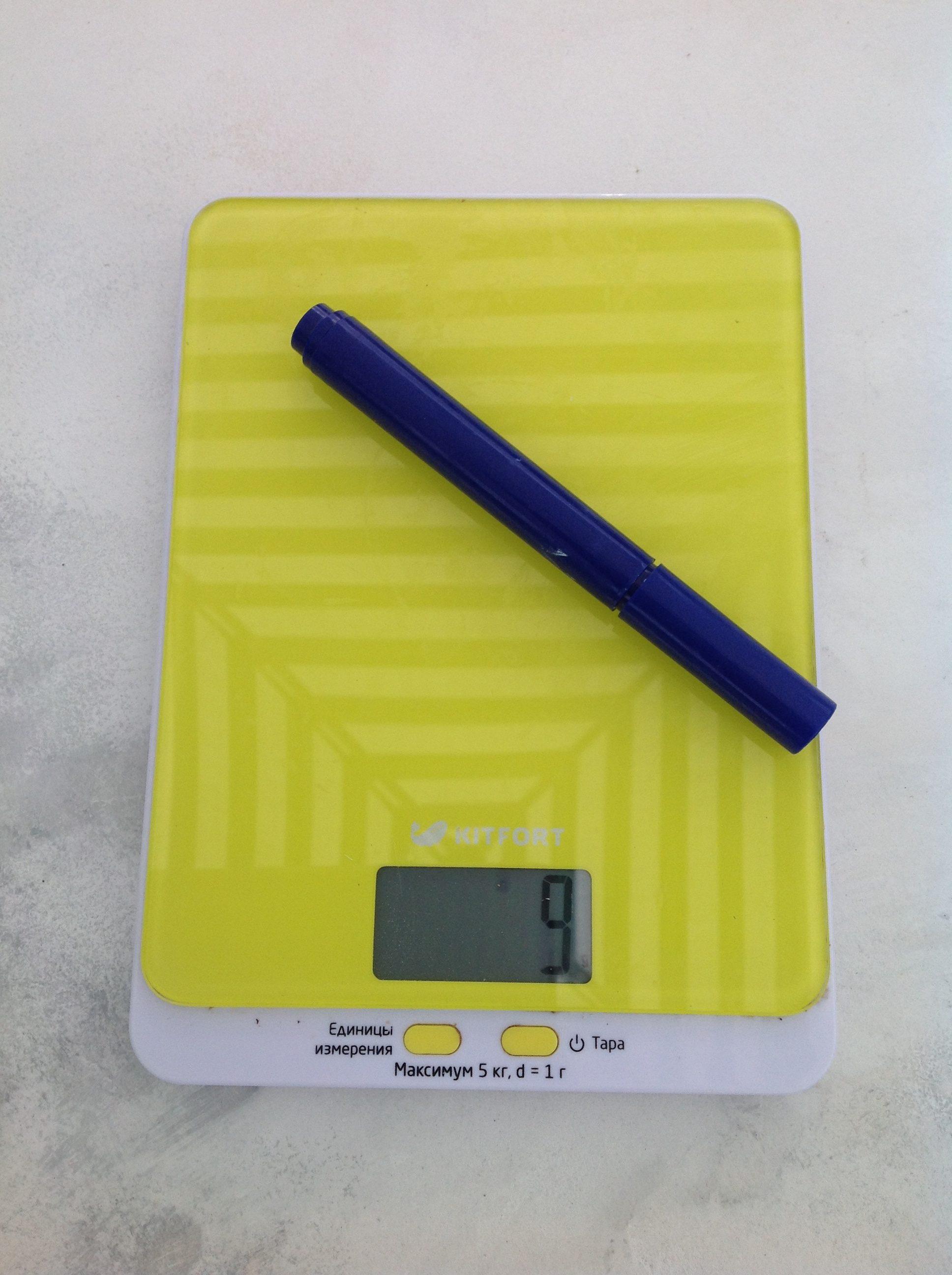 вес маркера