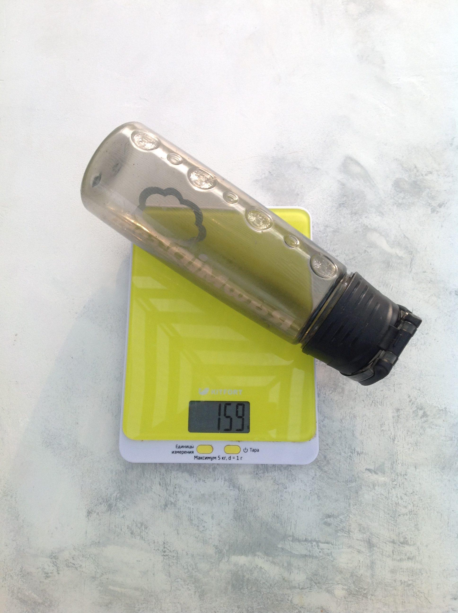 вес бутылки для воды пластиковой
