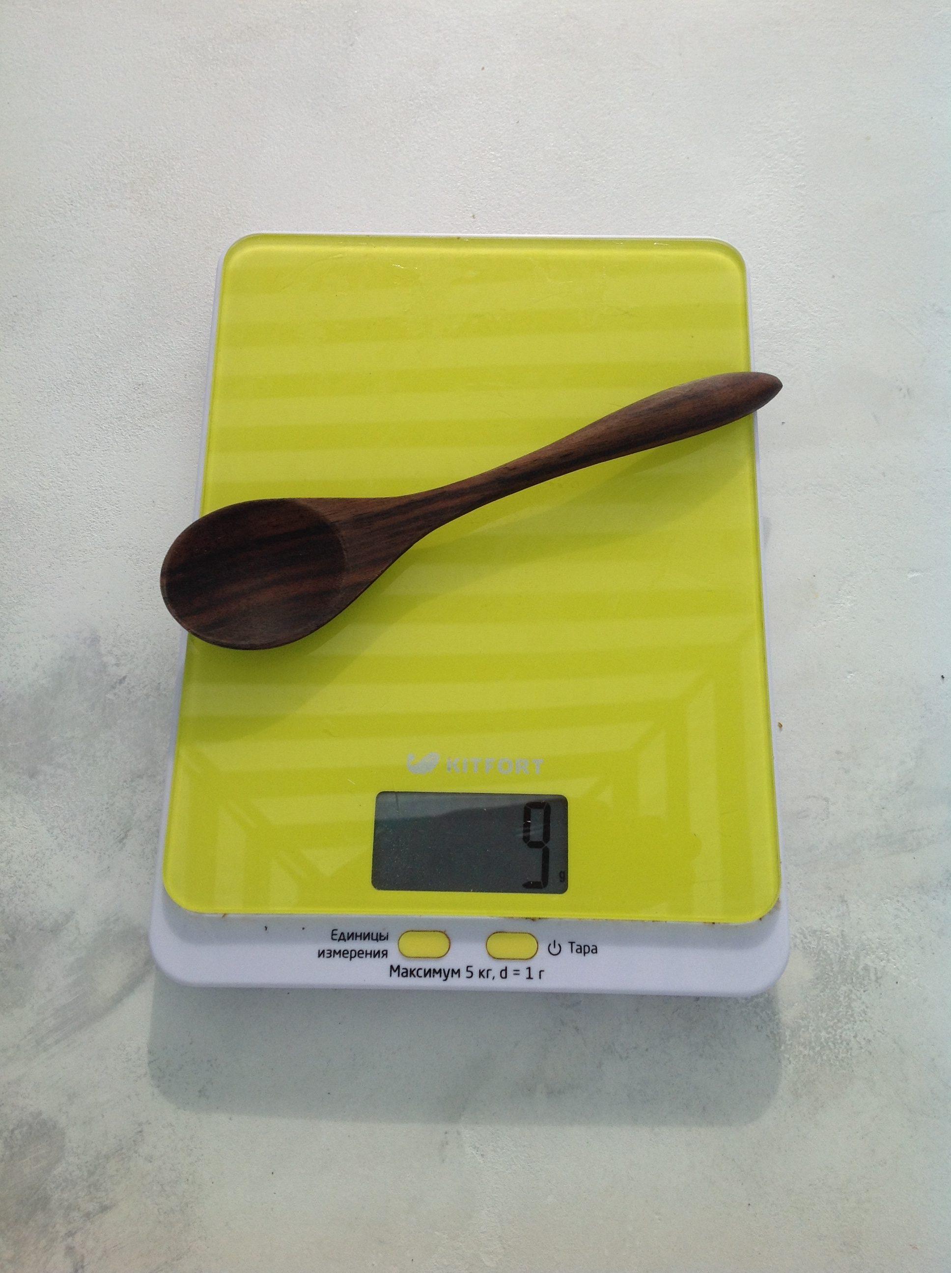 вес ложки деревянной средней