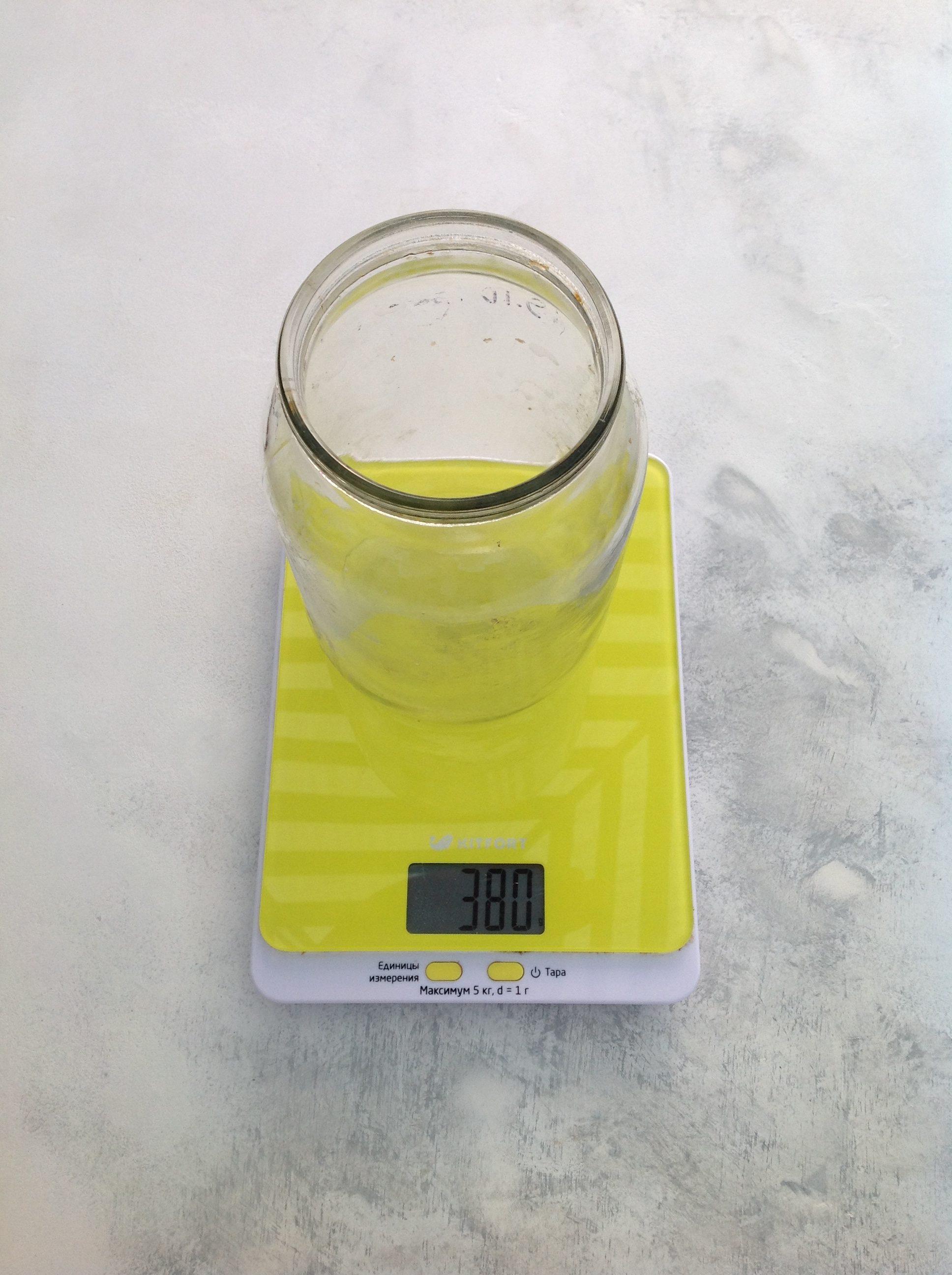 вес банки литровой 1 л