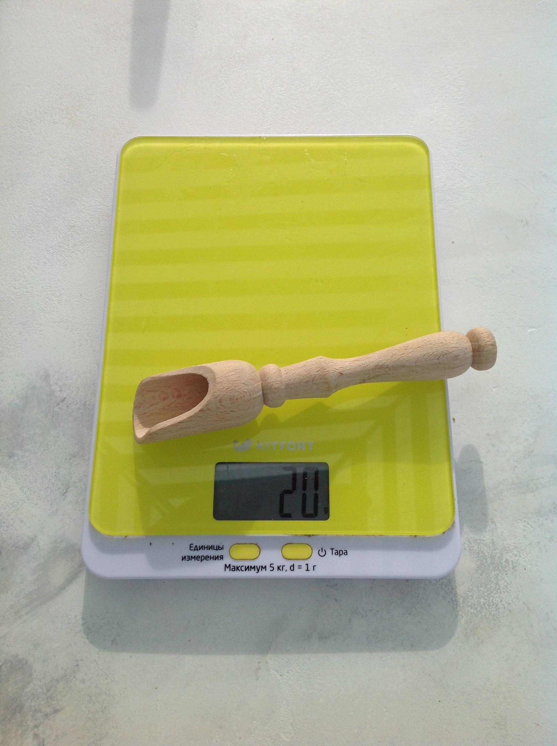 вес деревянного совочка для специй