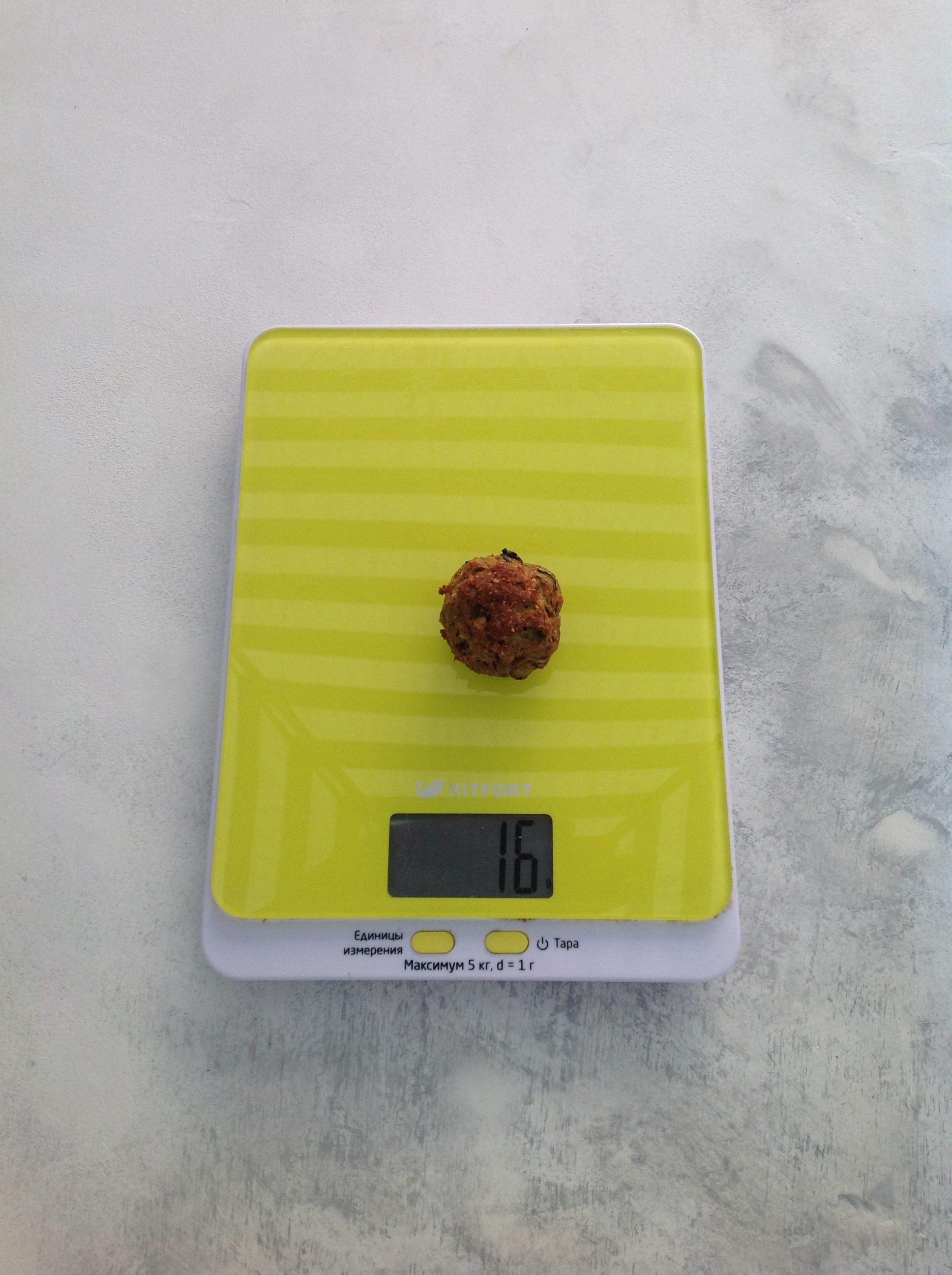 вес чечевичной тефтельки