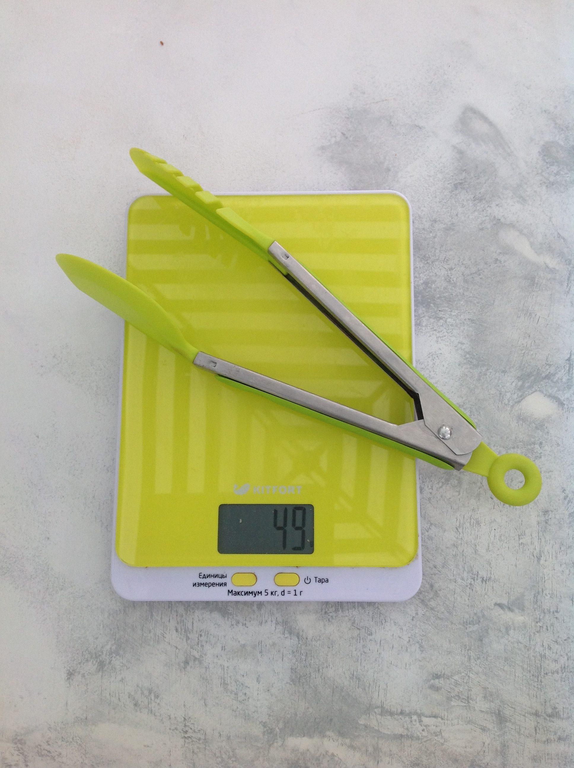 вес щипцов для салата