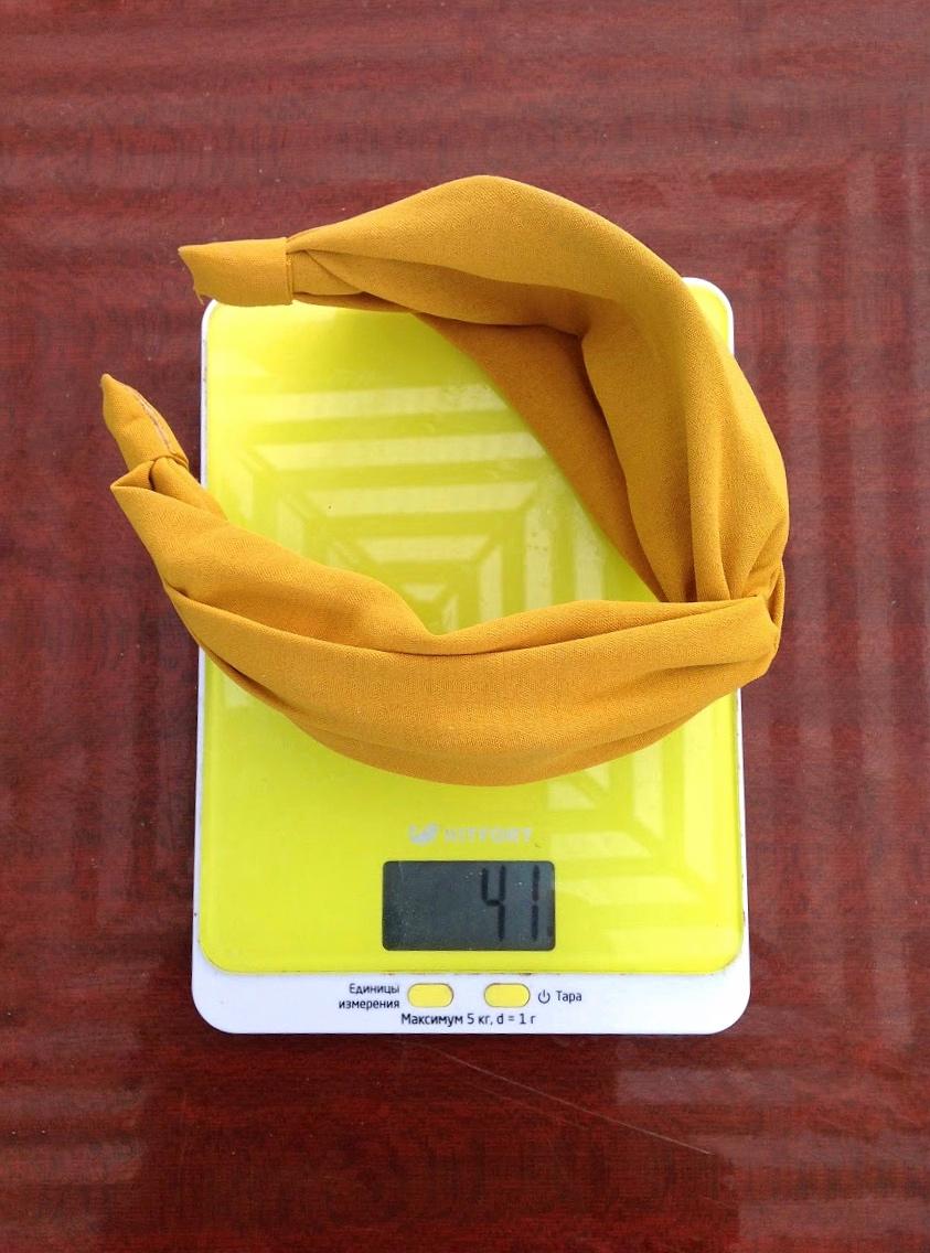 вес ободка тканевого с узлом