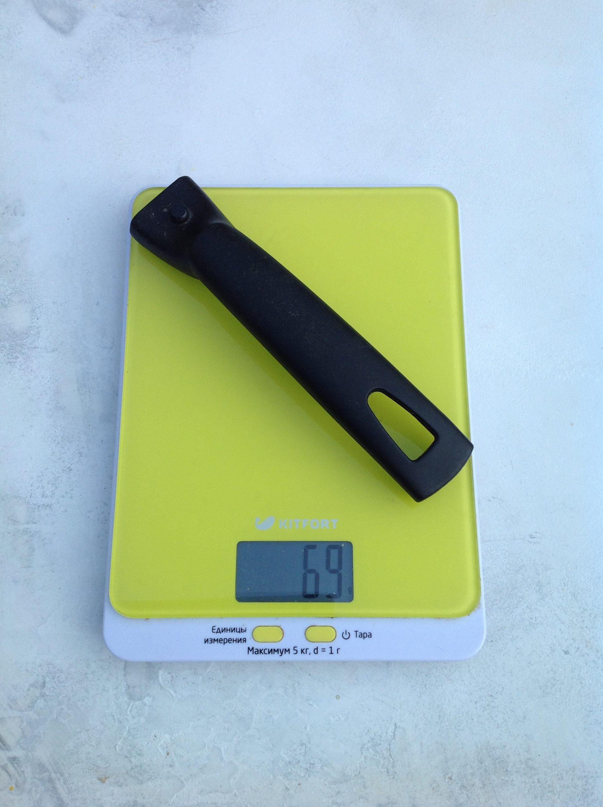 вес съемной ручки для сковороды