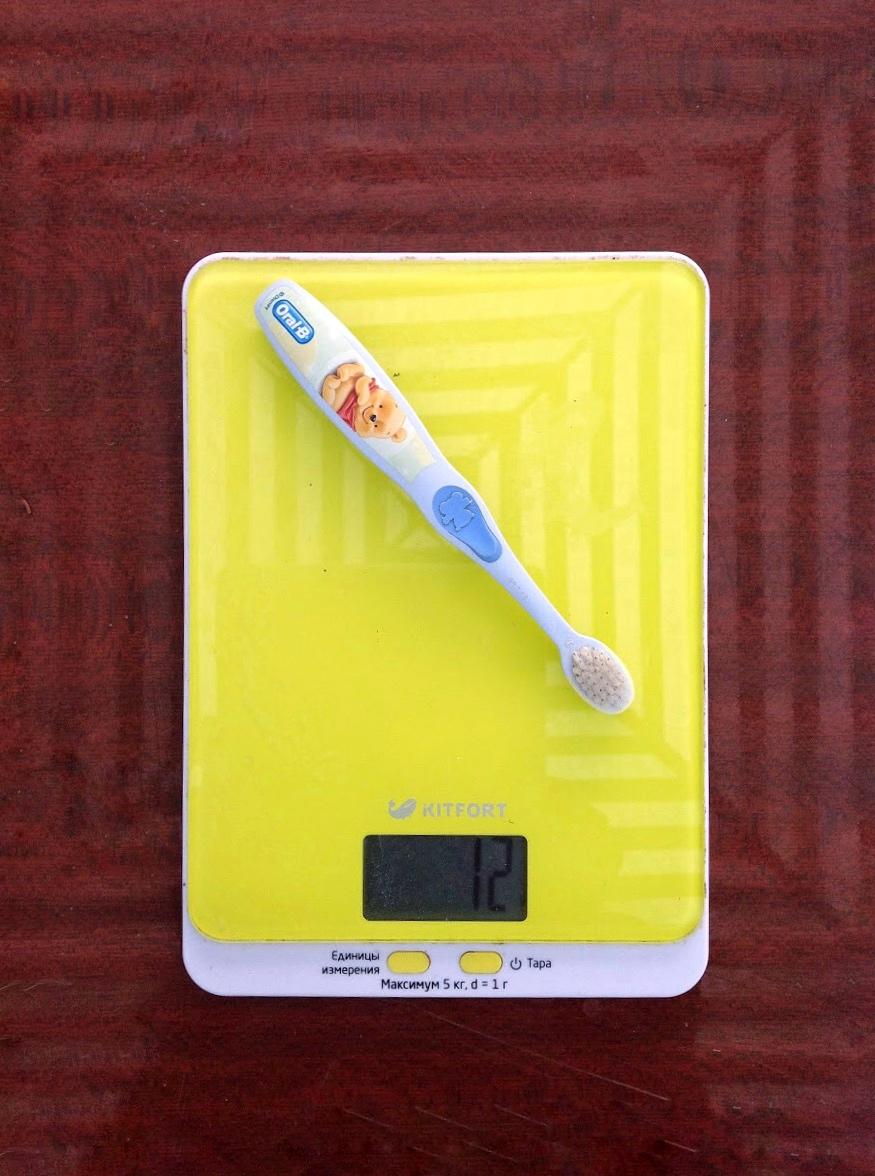 вес детской зубной щётки