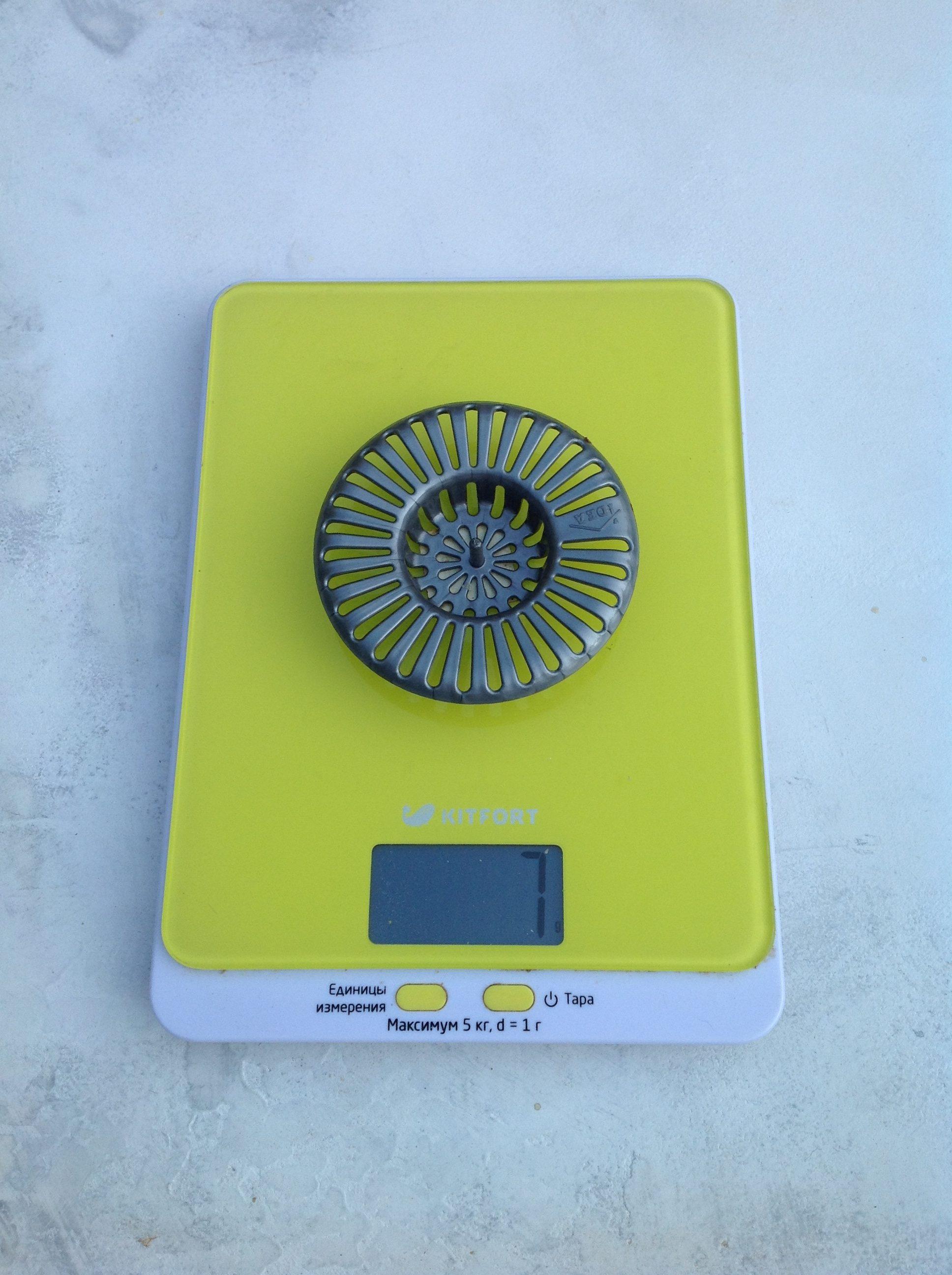 вес сита для раковины пластикового