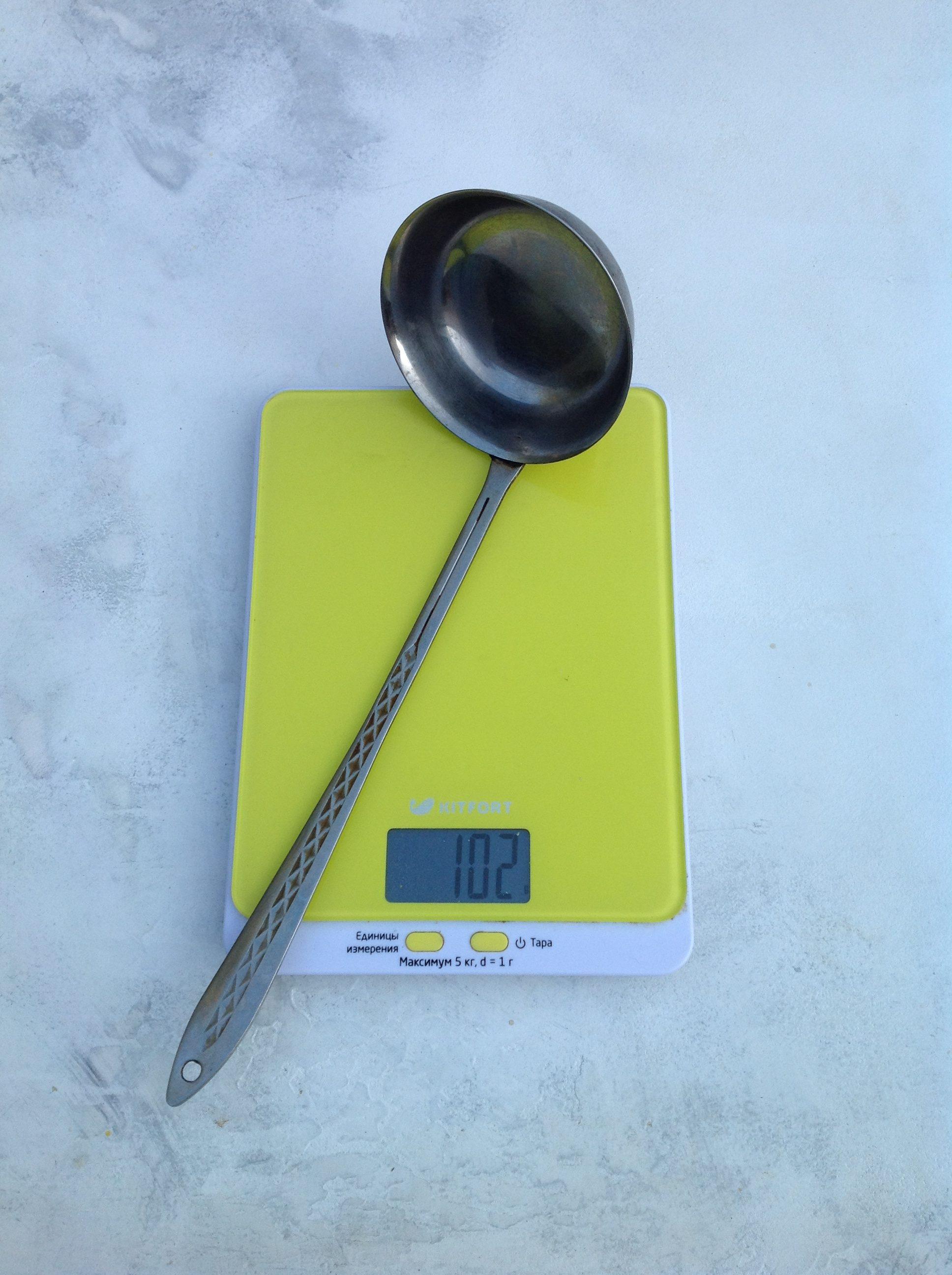 вес половника большого