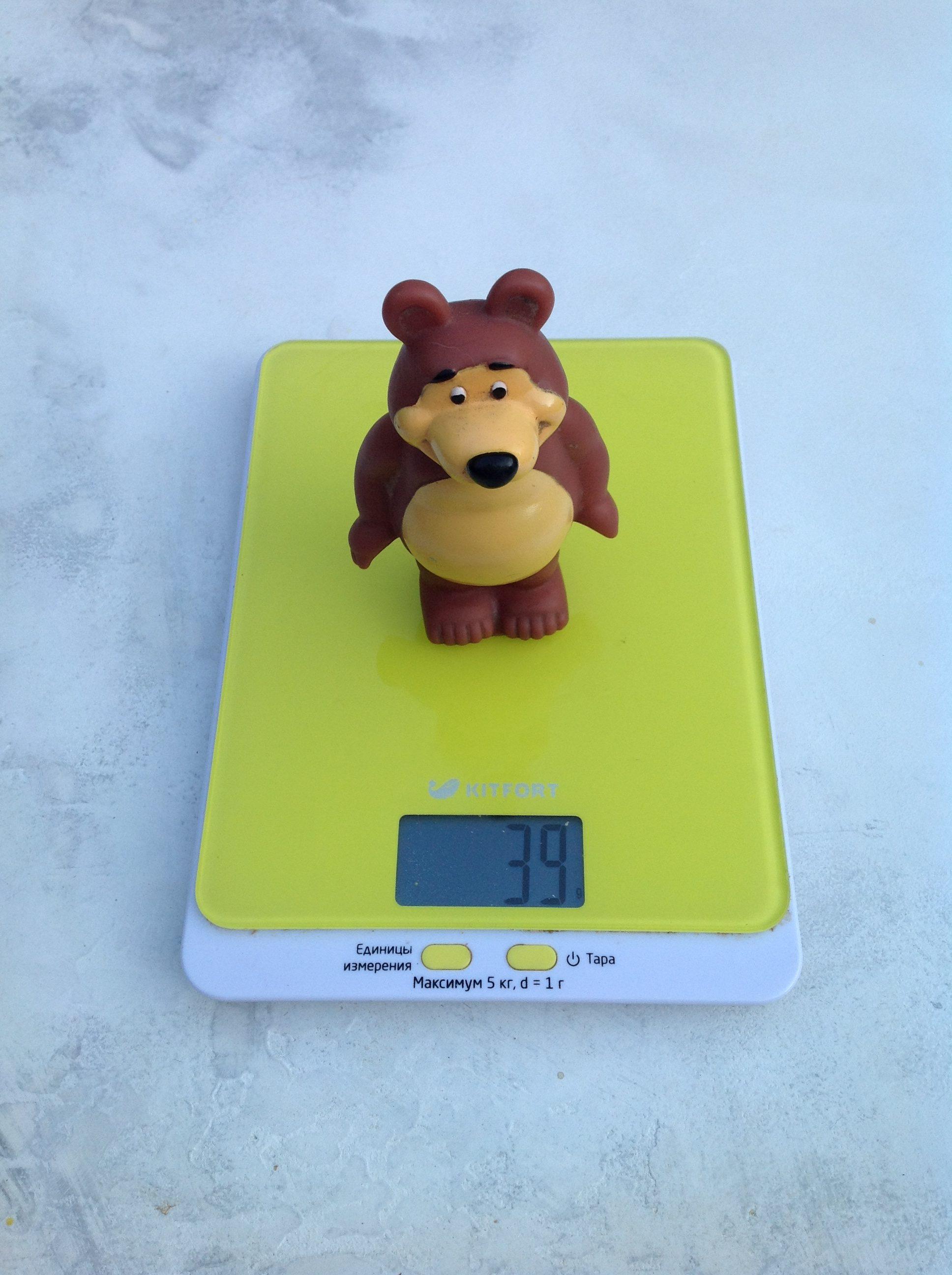 вес игрушки медведь резинового малого