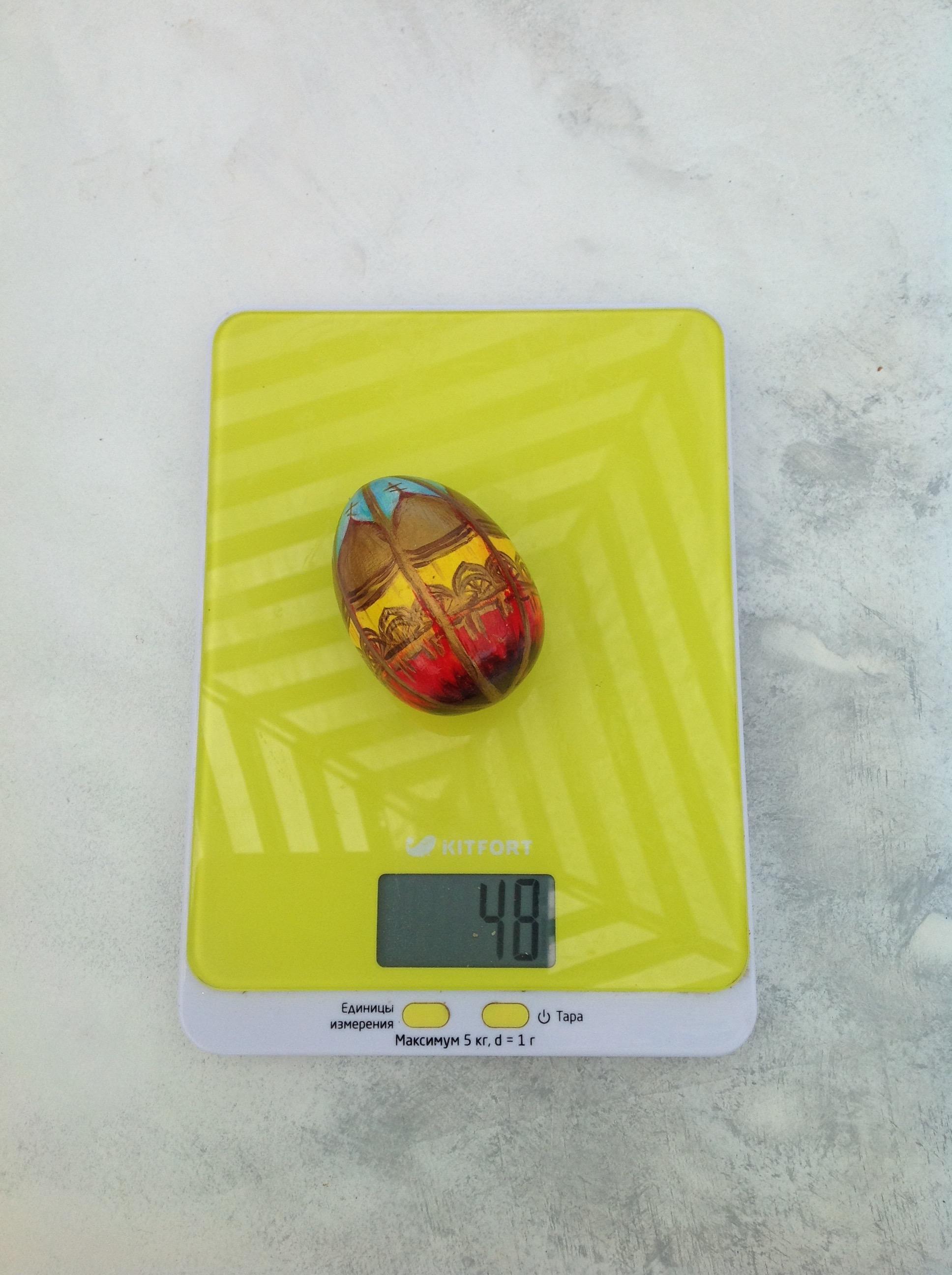 вес пасхального яйца деревянного расписного