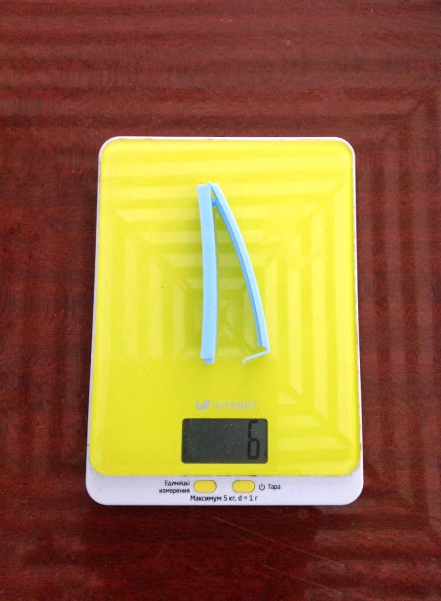 вес зажима для пакетов