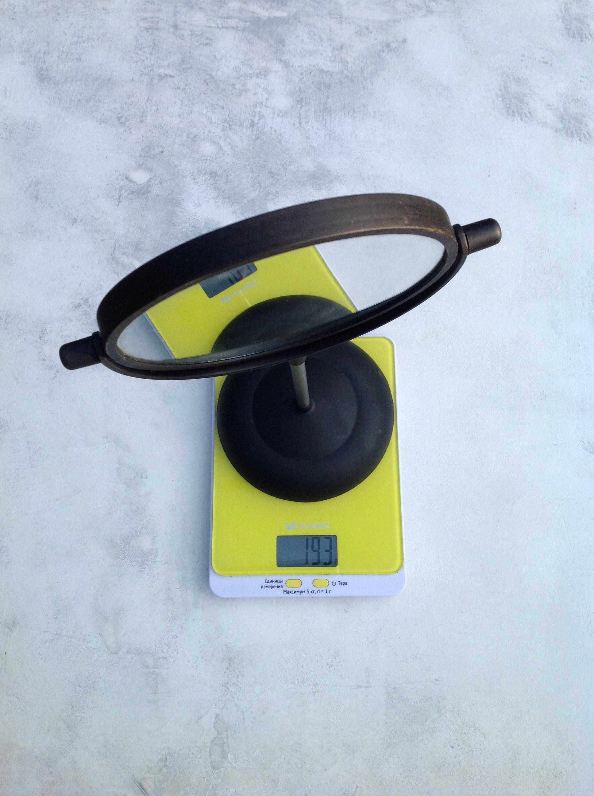вес зеркала настольного поворотного